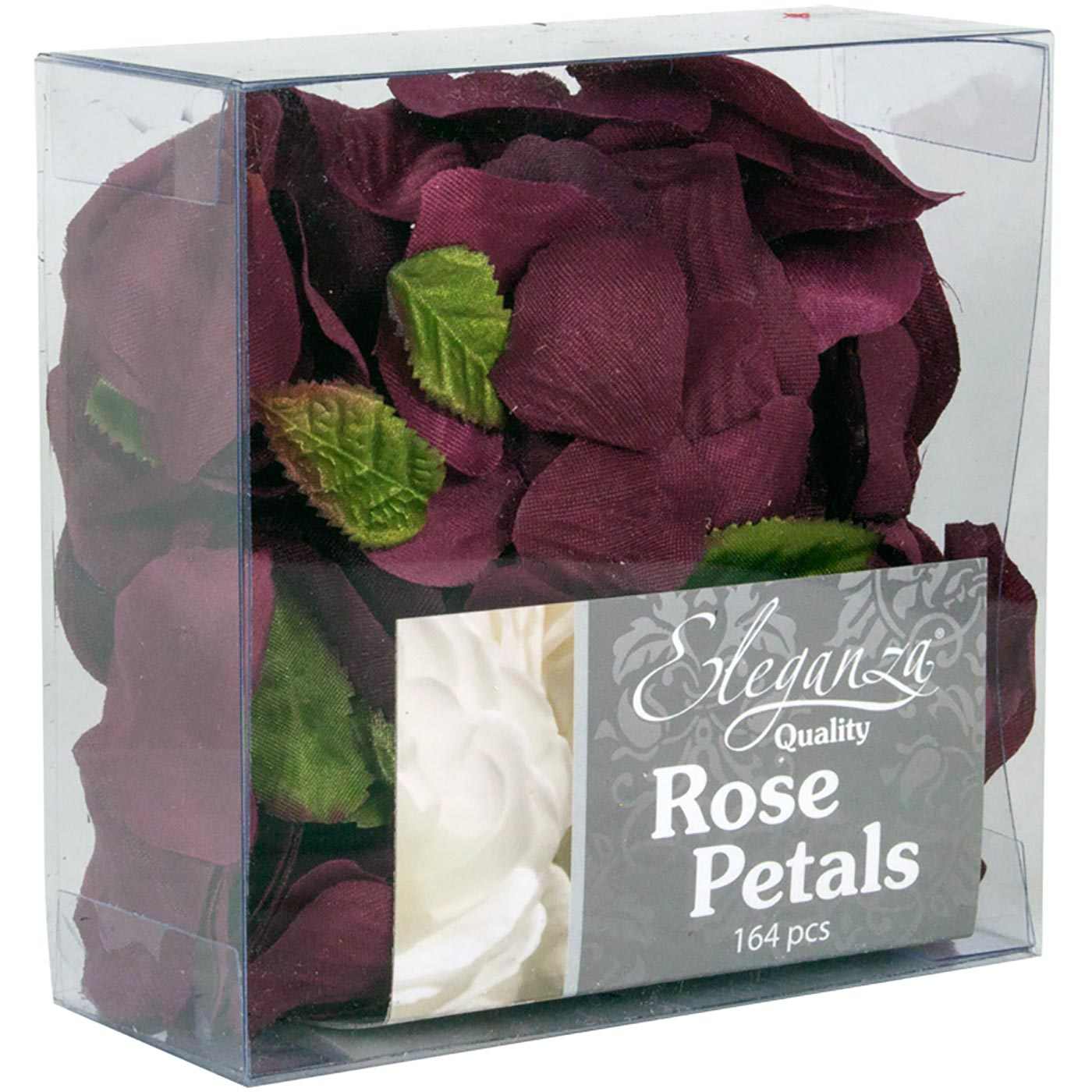 Eleganza Rose Petals Acetate box 164pcs Burgundy