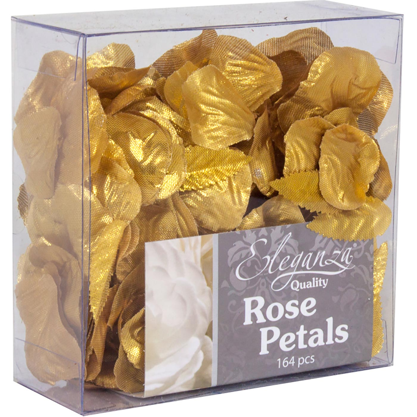 Eleganza Rose Petals Acetate box 164pcs Metallic Gold