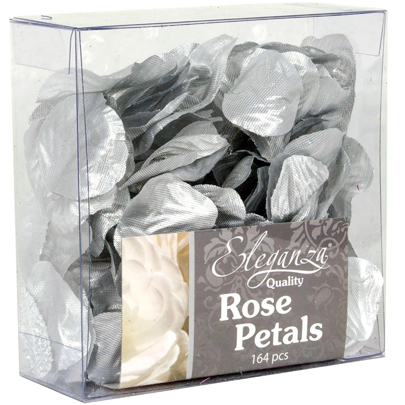 Eleganza Rose Petals Acetate box 164pcs Metallic Silver
