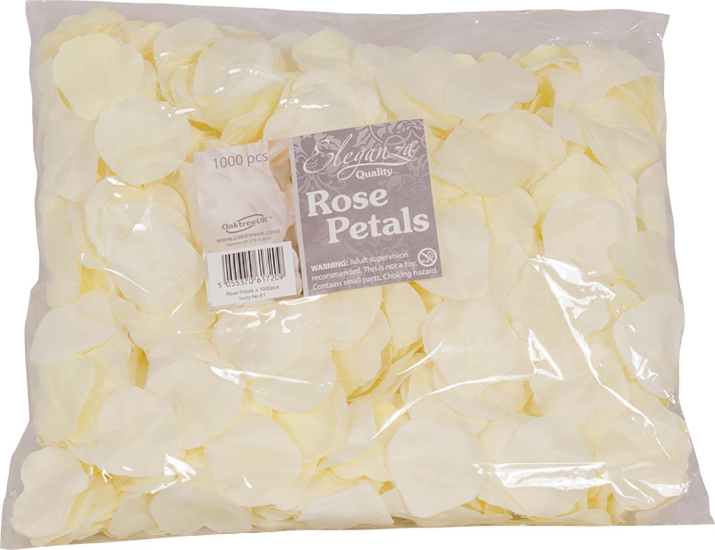 Eleganza Rose Petals x 1000pcs Ivory