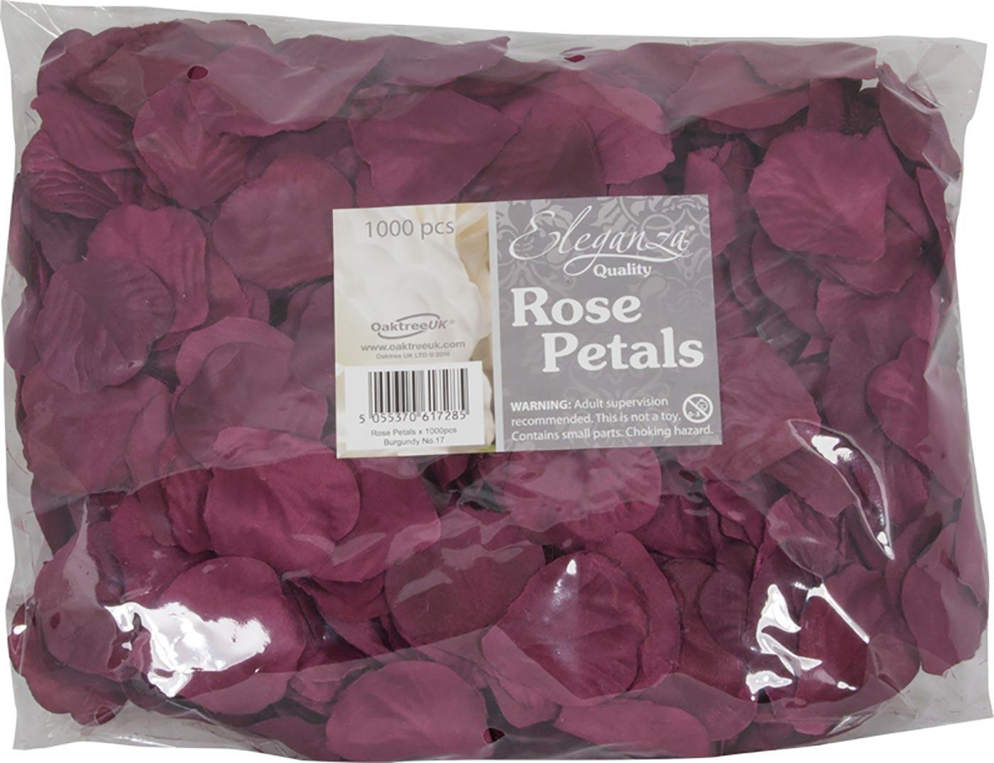 Eleganza Rose Petals x 1000pcs Burgundy