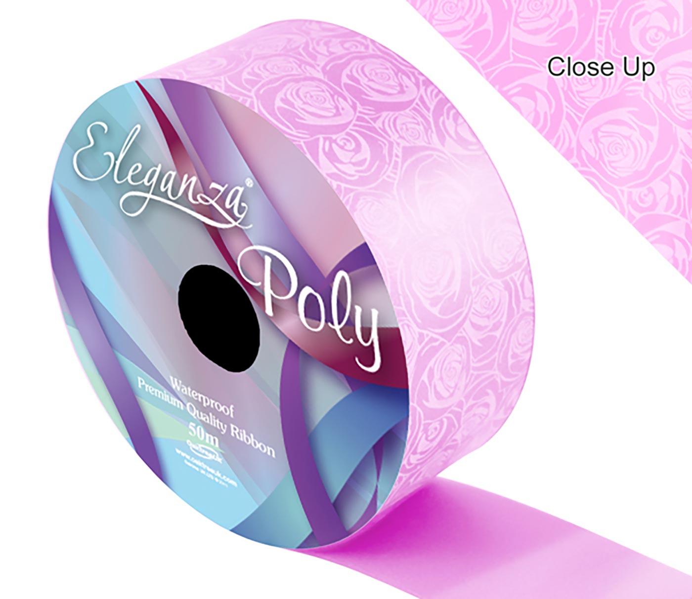 Eleganza Poly 50mm x 50m Elegant rose Print Pink