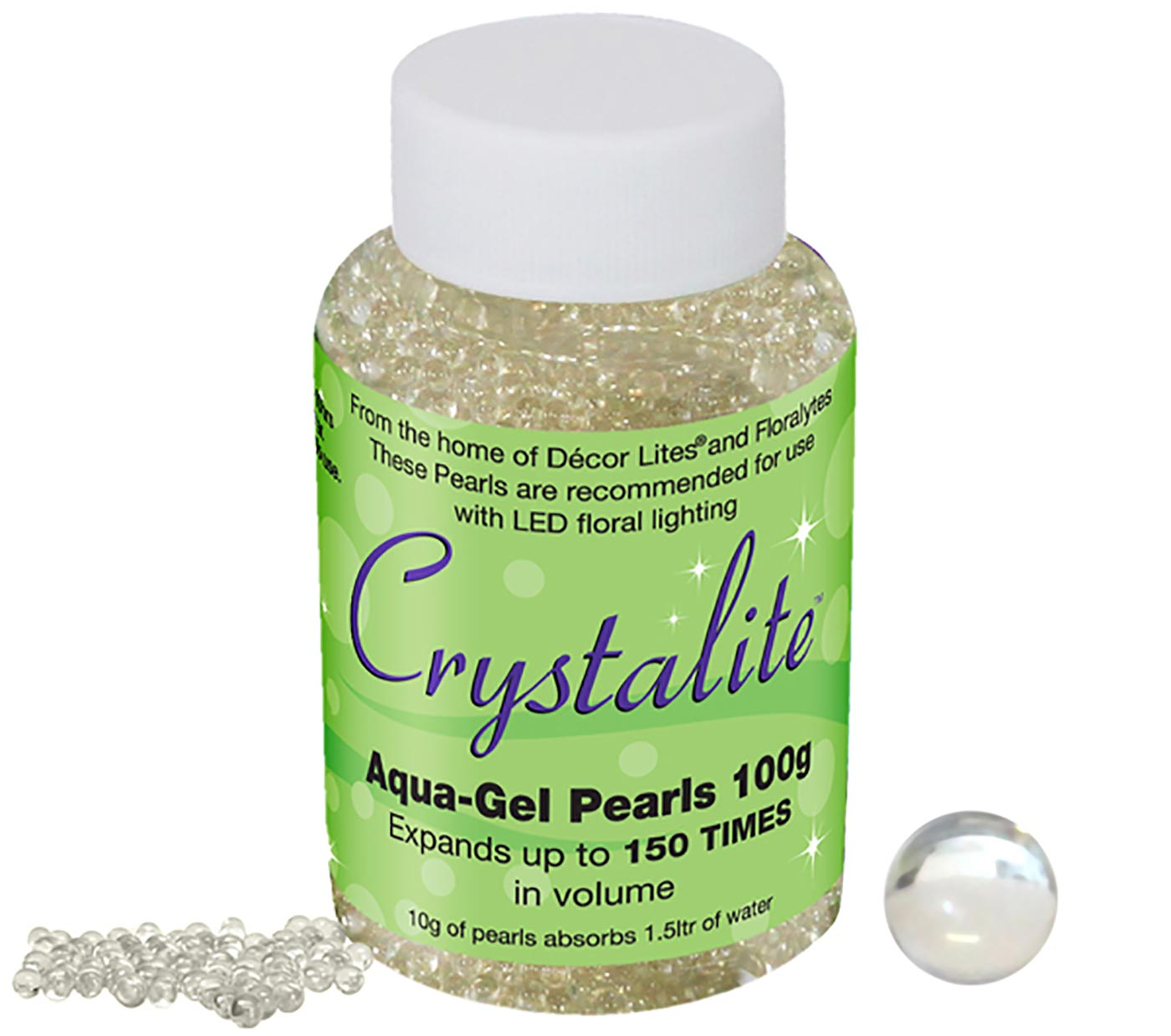 Crystalite Pearls 100g Clear