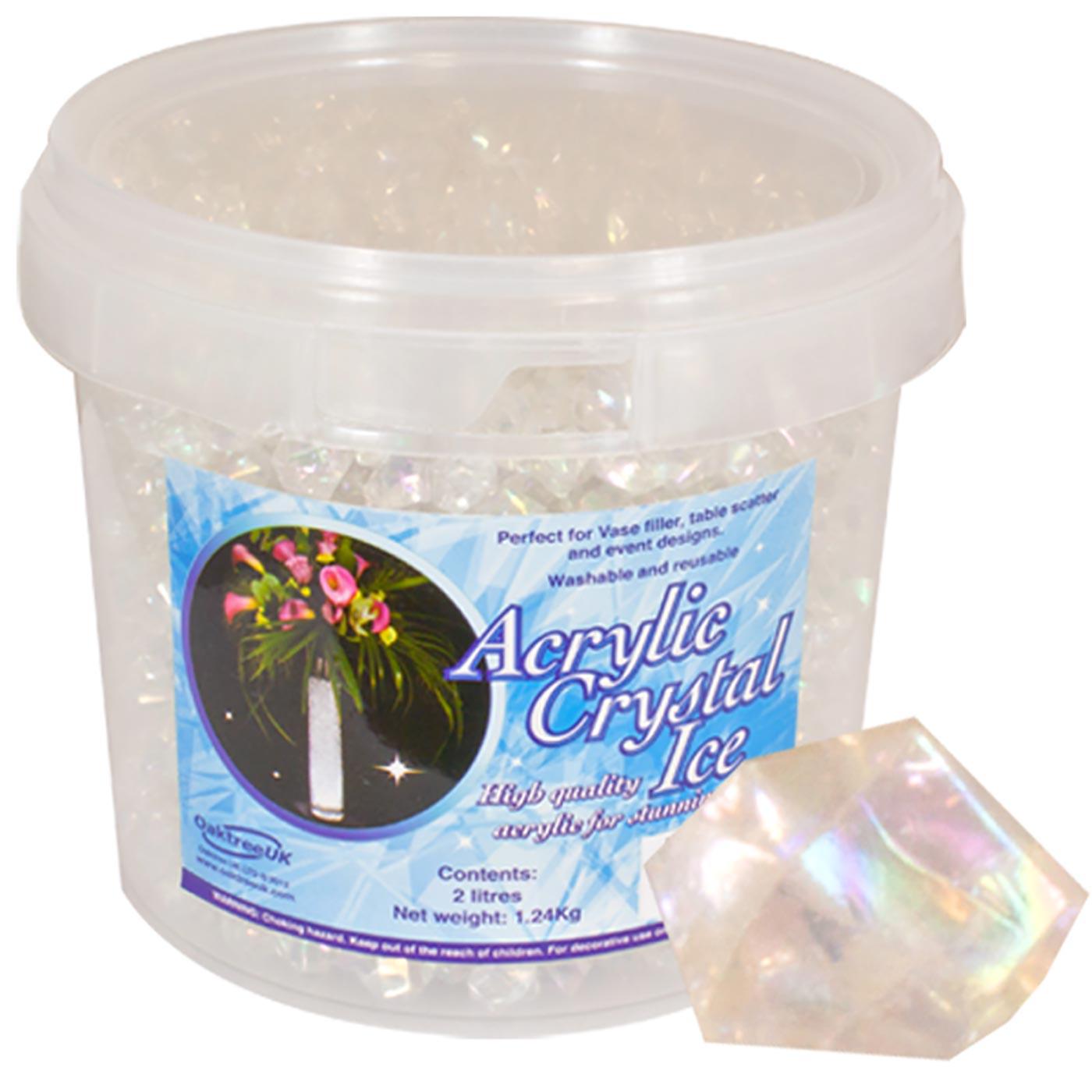 Acrylic Crystal Ice 1.4cm 2ltr 1.24Kg Iridescent