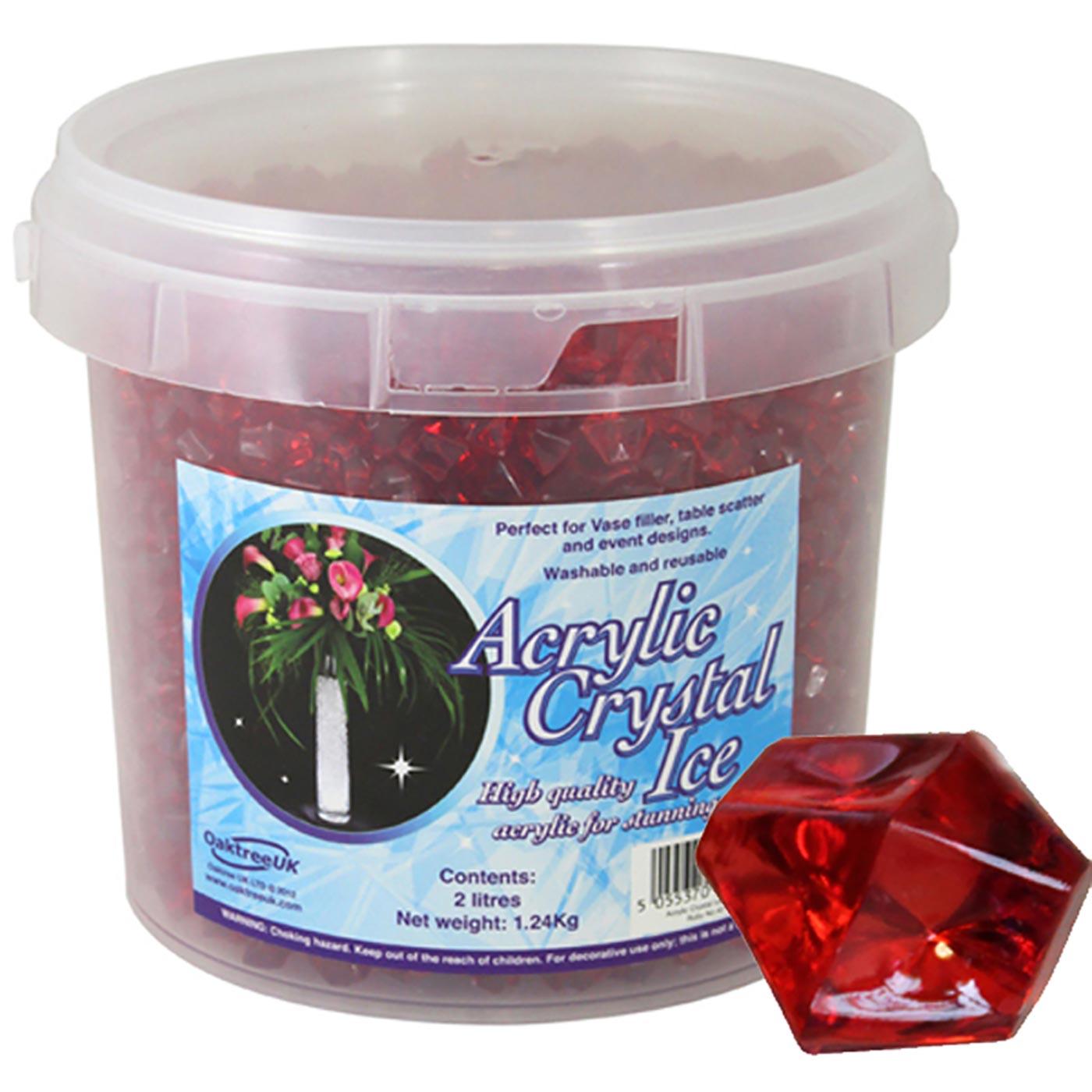 Acrylic Crystal Ice 1.4cm 2ltr 1.24Kg Ruby