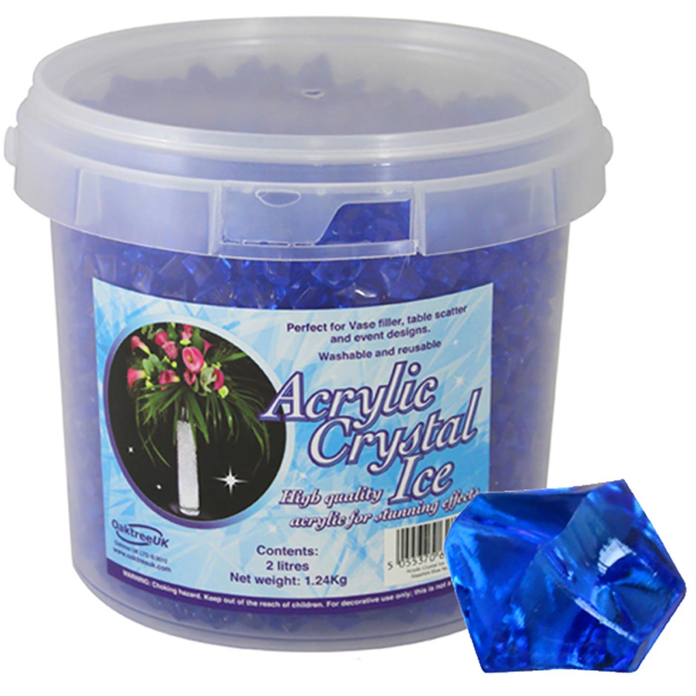 Acrylic Crystal Ice 1.4cm 2ltr 1.24Kg Sapphire Blue