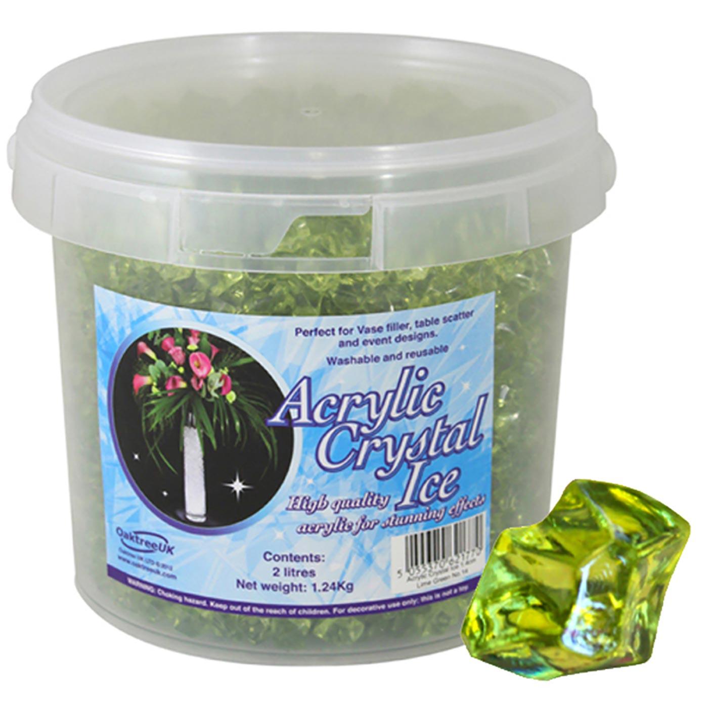 Acrylic Crystal Ice 1.4cm 2ltr 1.24Kg Lime Green