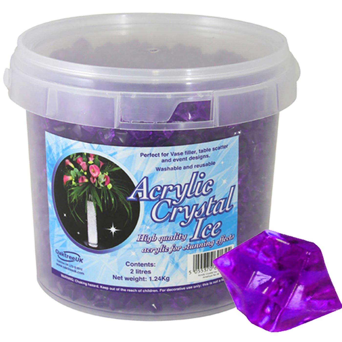 Acrylic Crystal Ice 1.4cm 2ltr 1.24Kg Amethyst