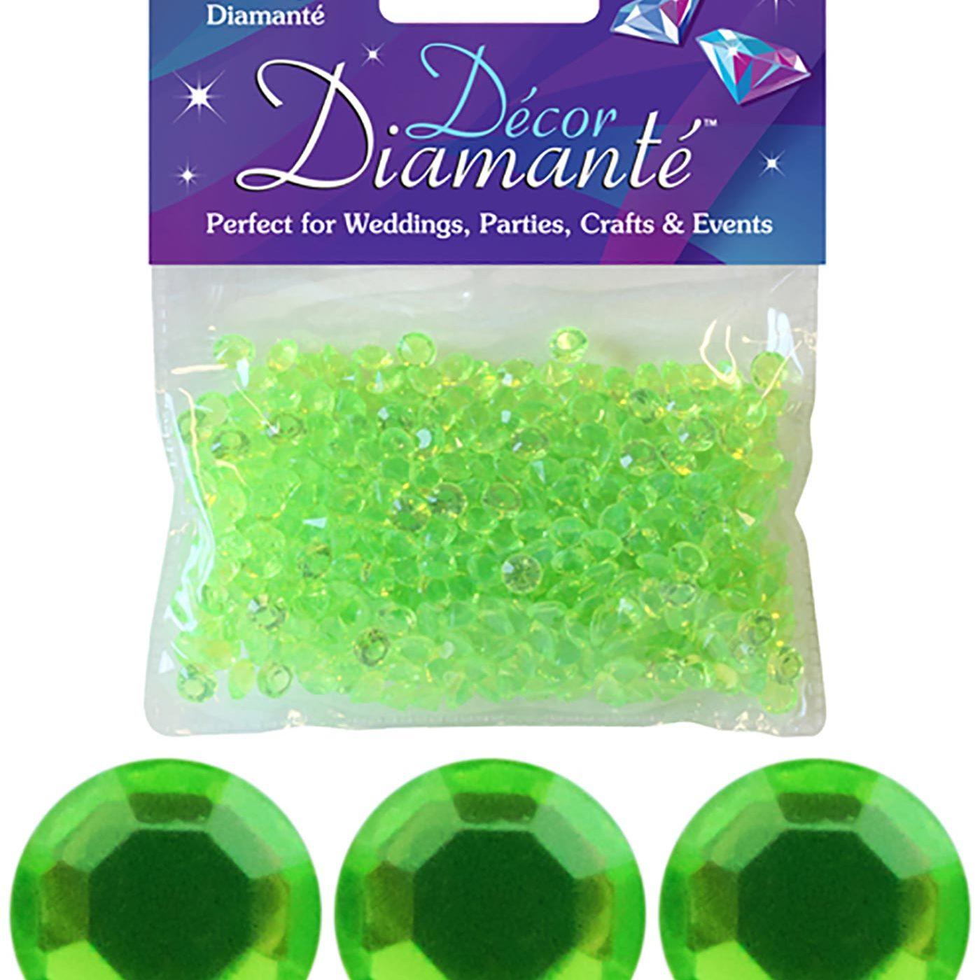 6mm Décor Diamante Diamonds 28g No.14 Lime Green