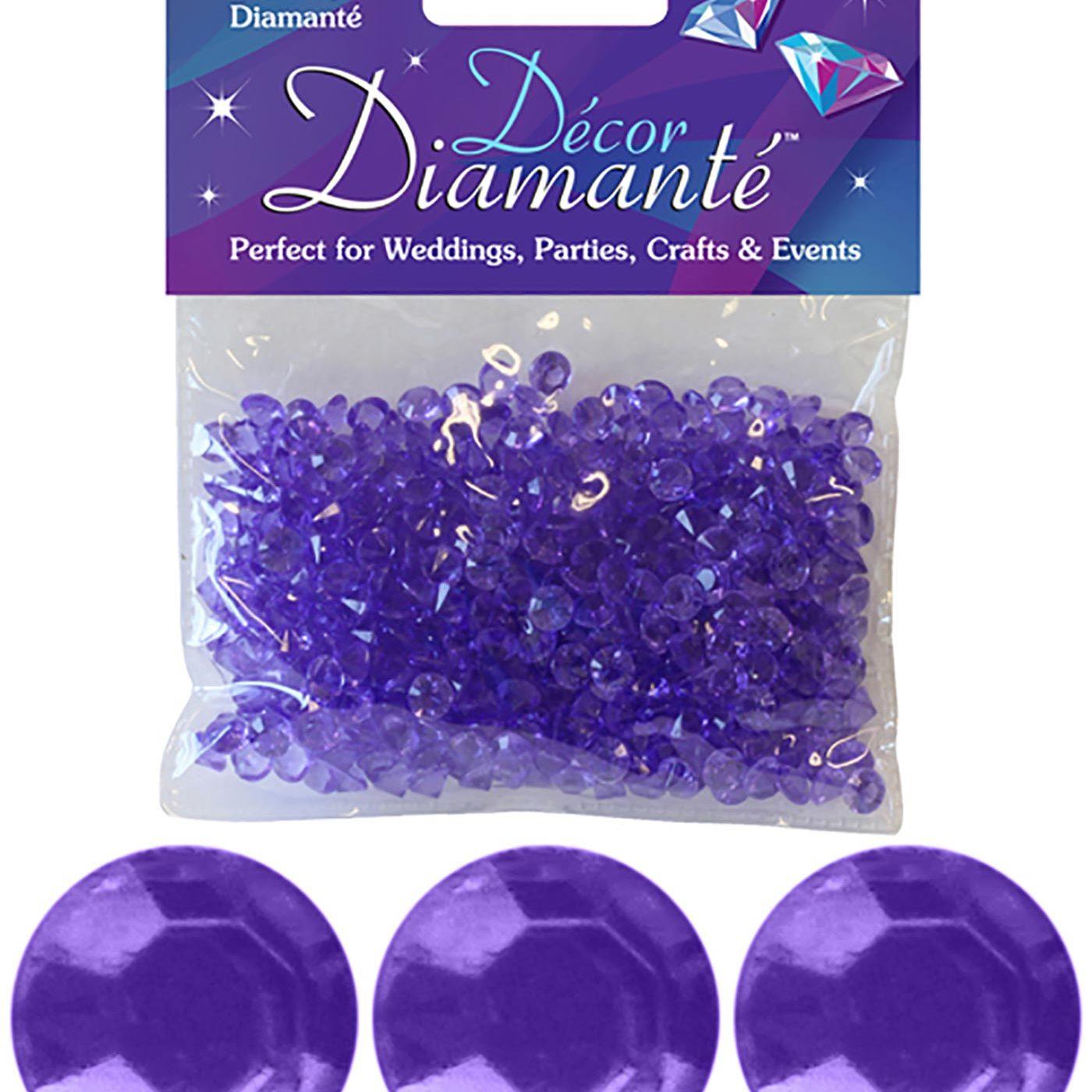 6mm Décor Diamante Diamonds 28g No.45 Lavender