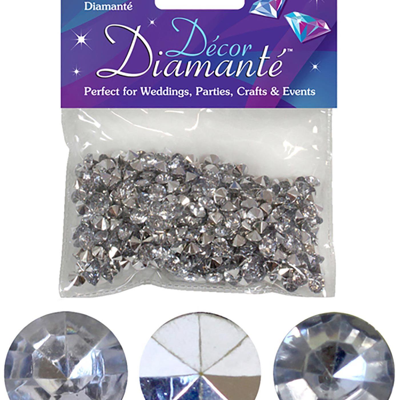 6mm Décor Diamante Diamonds 28g Silver