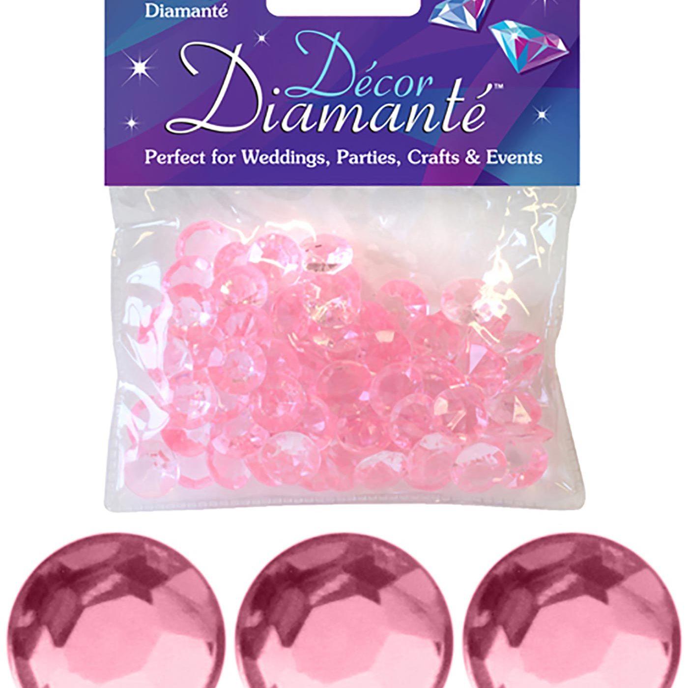 12mm Décor Diamante Diamonds 28g No.21 Pearl Pink