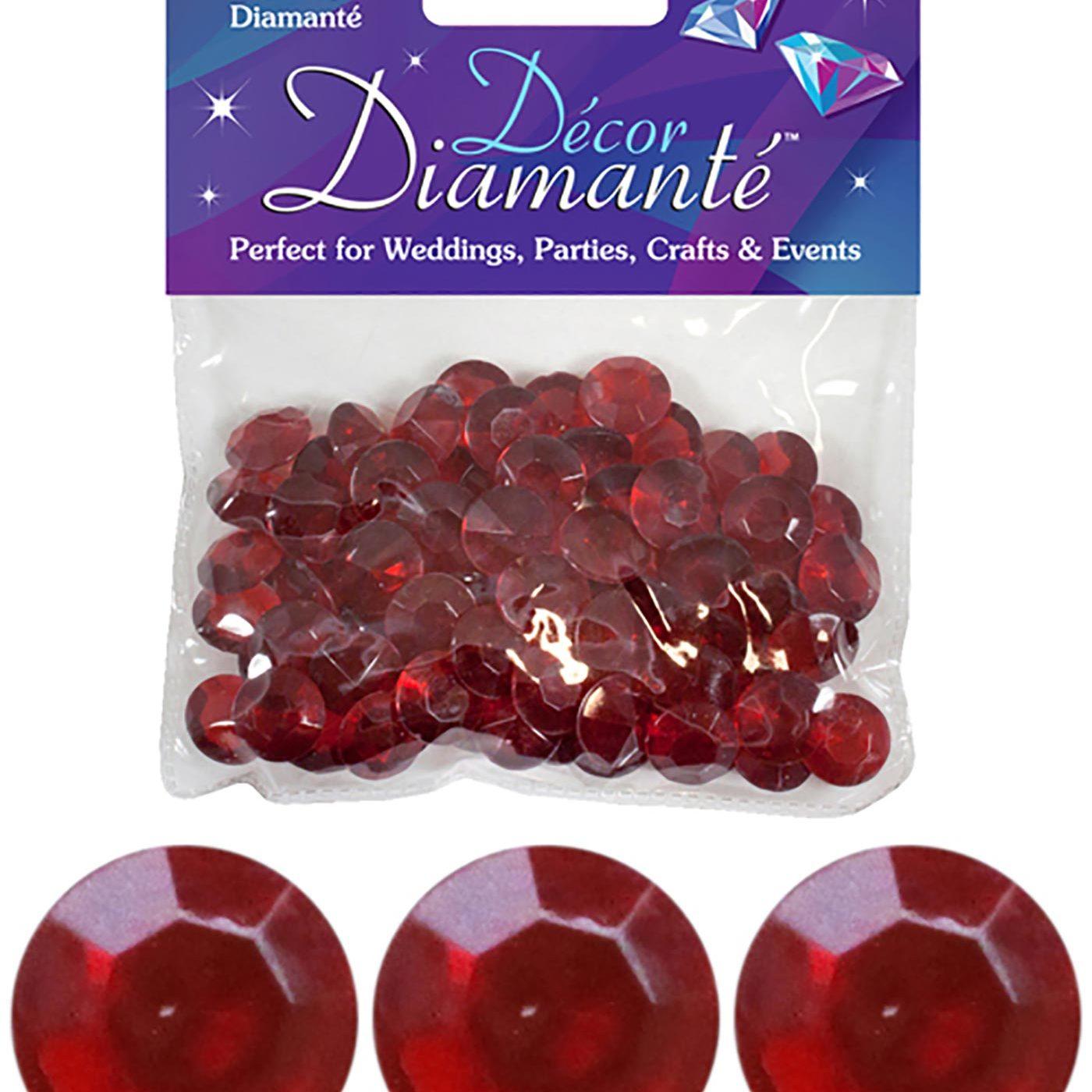 12mm Décor Diamante Diamonds 28g No.40 Ruby