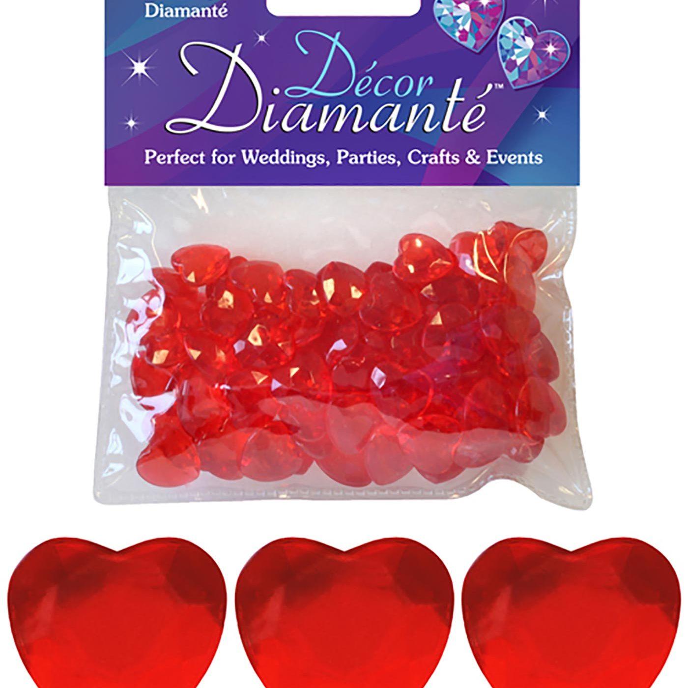 12mm Décor Diamante Double Faced Heart 28g No.16 Red