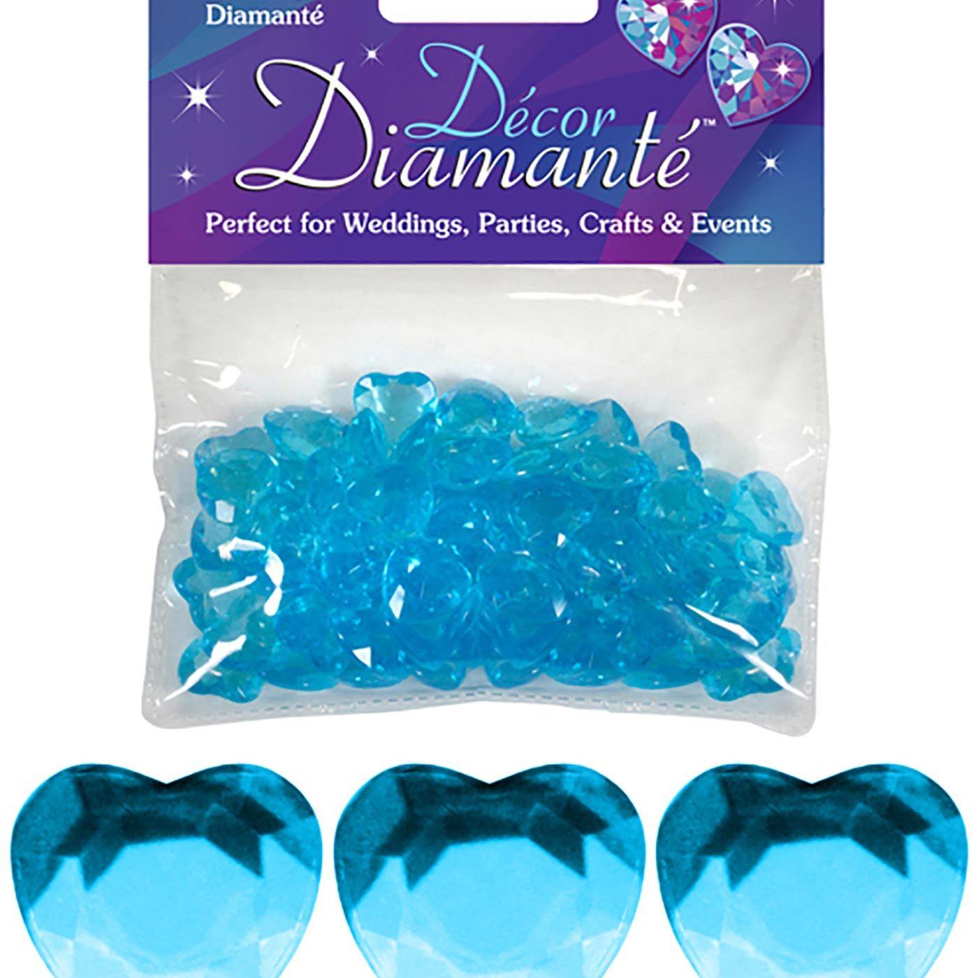 12mm Décor Diamante Double Faced Heart 28g No.25 Pearl Blue