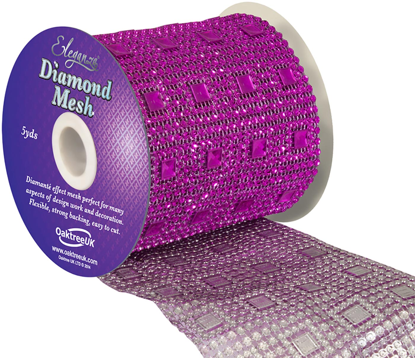Eleganza Diamond Mesh 11cm x 4.5m Pattern No.351 Fuchsia