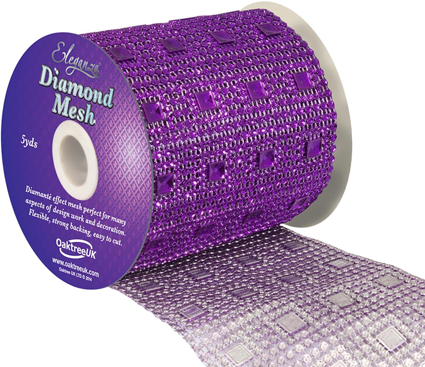 Eleganza Diamond Mesh 11cm x 4.5m Pattern No.351 Purple