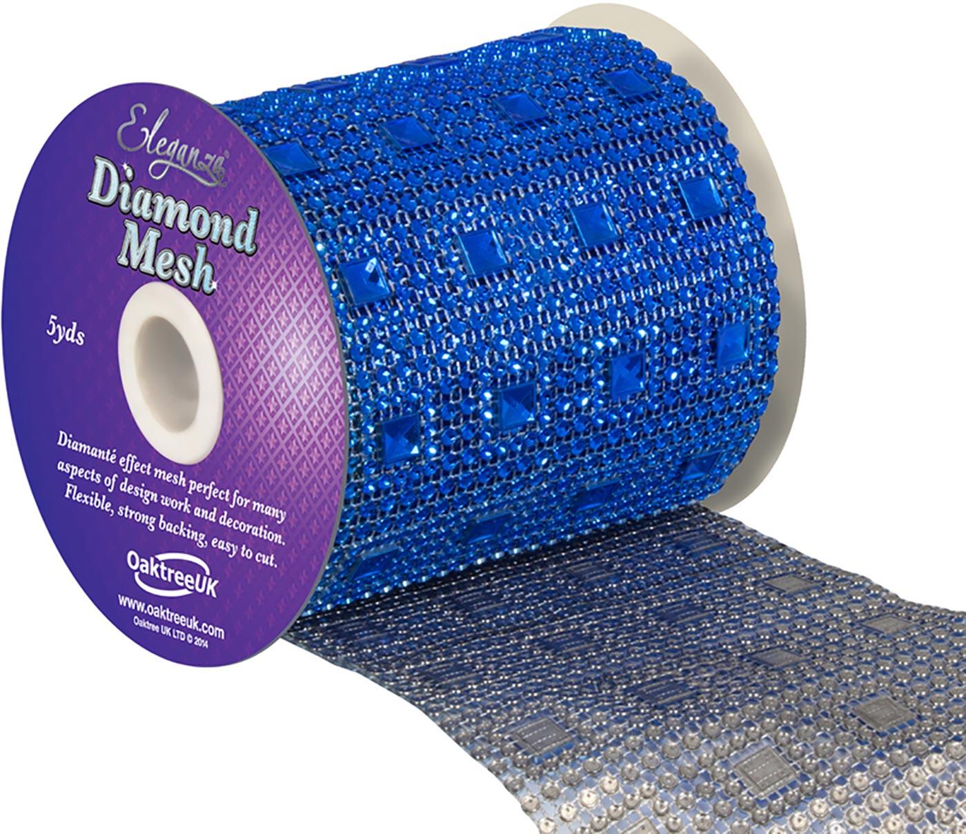Eleganza Diamond Mesh 11cm x 4.5m Pattern No.351 Sapphire Blue