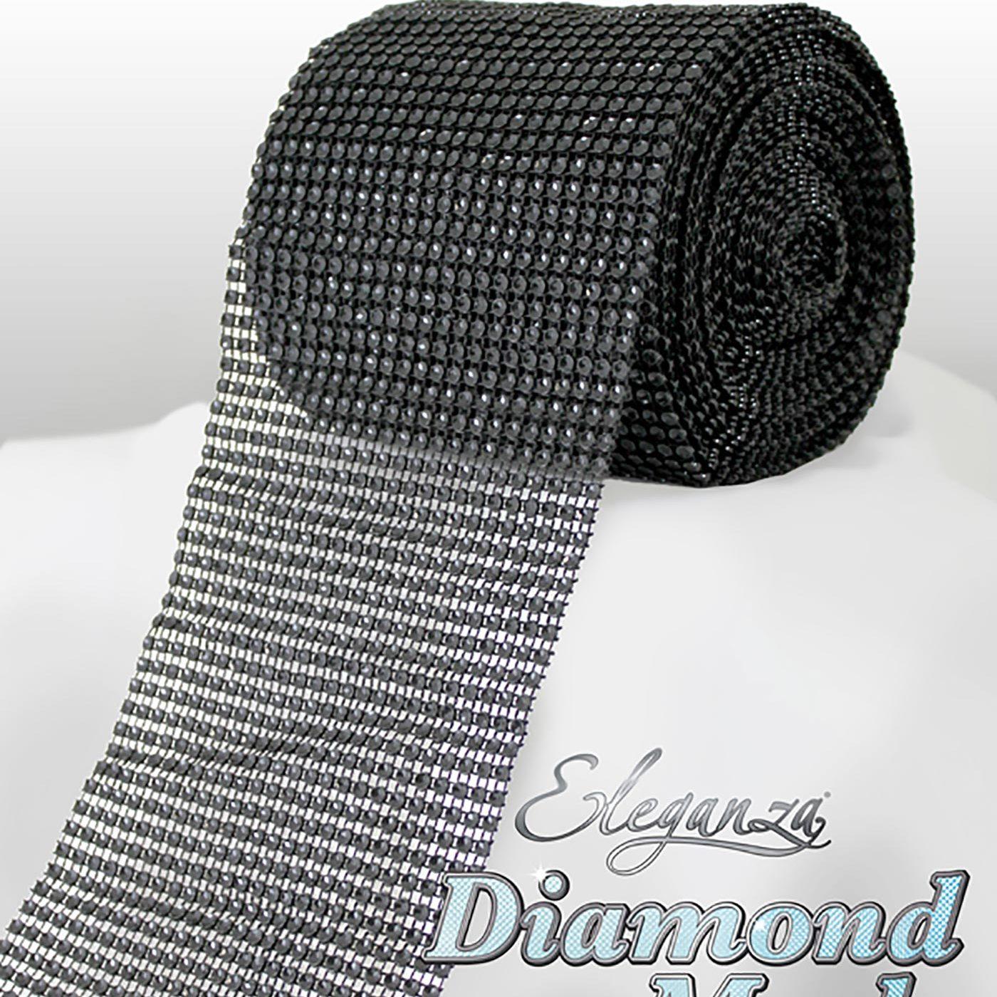 Eleganza Diamond Mesh 12cm x 9m Black