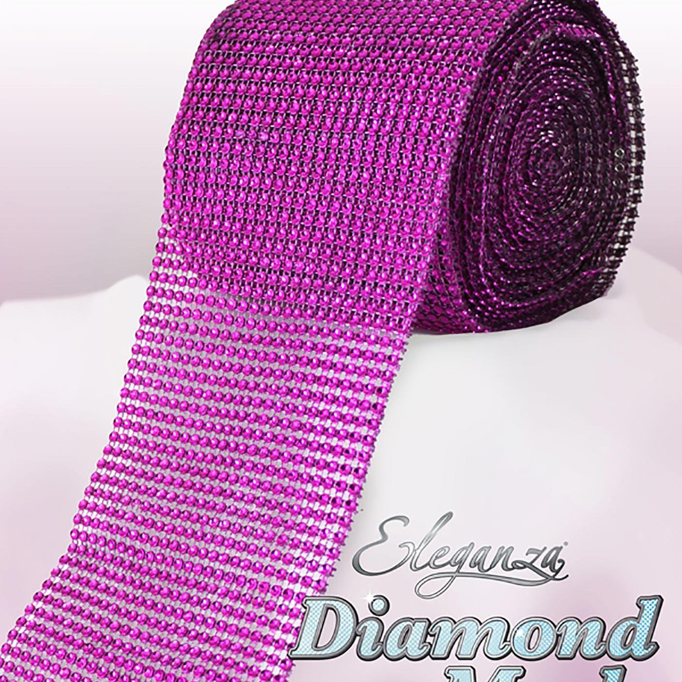 Eleganza Diamond Mesh 12cm x 9m Fuchsia