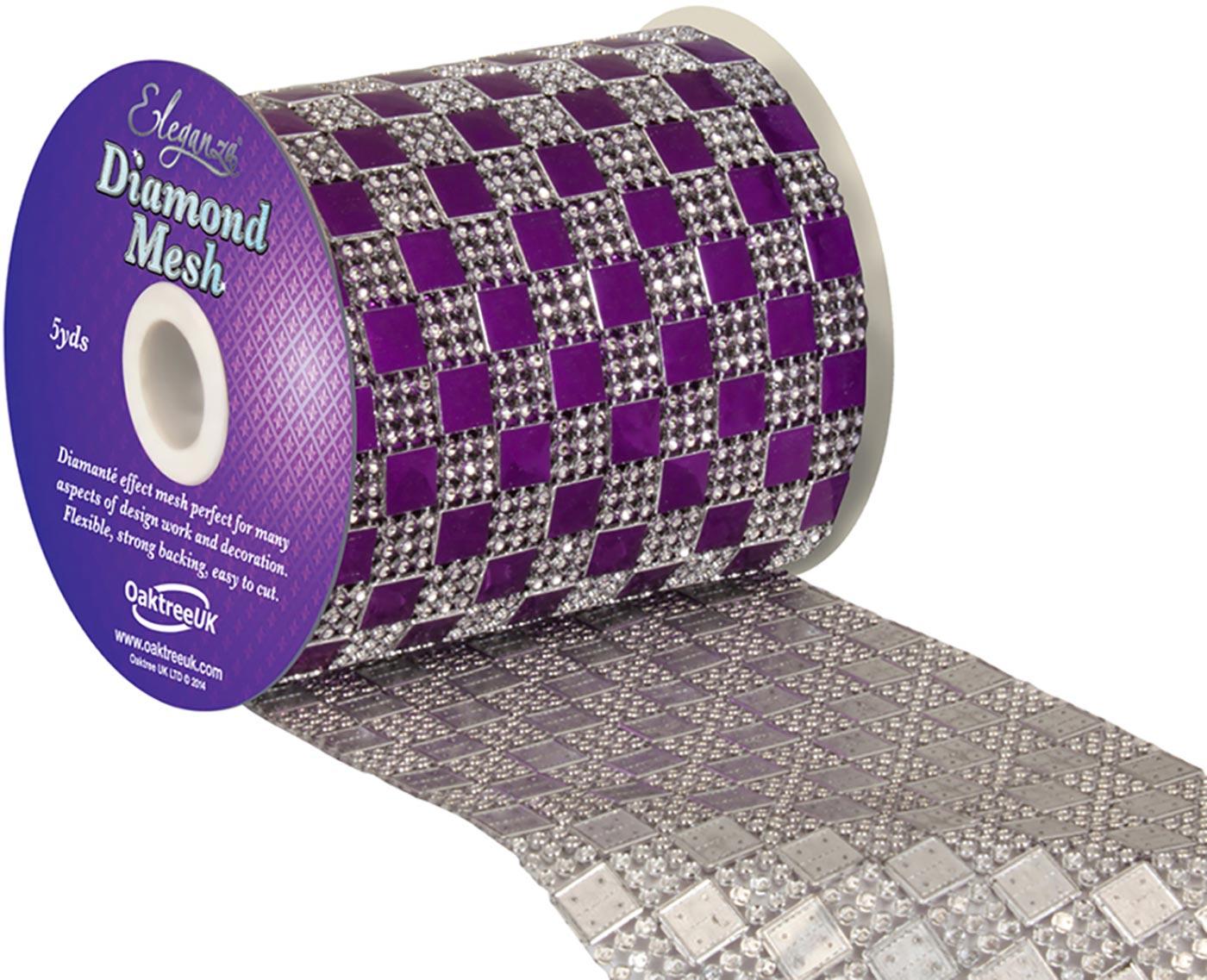 Eleganza Diamond Mesh 11cm x 4.5m Pattern No.350 Purple