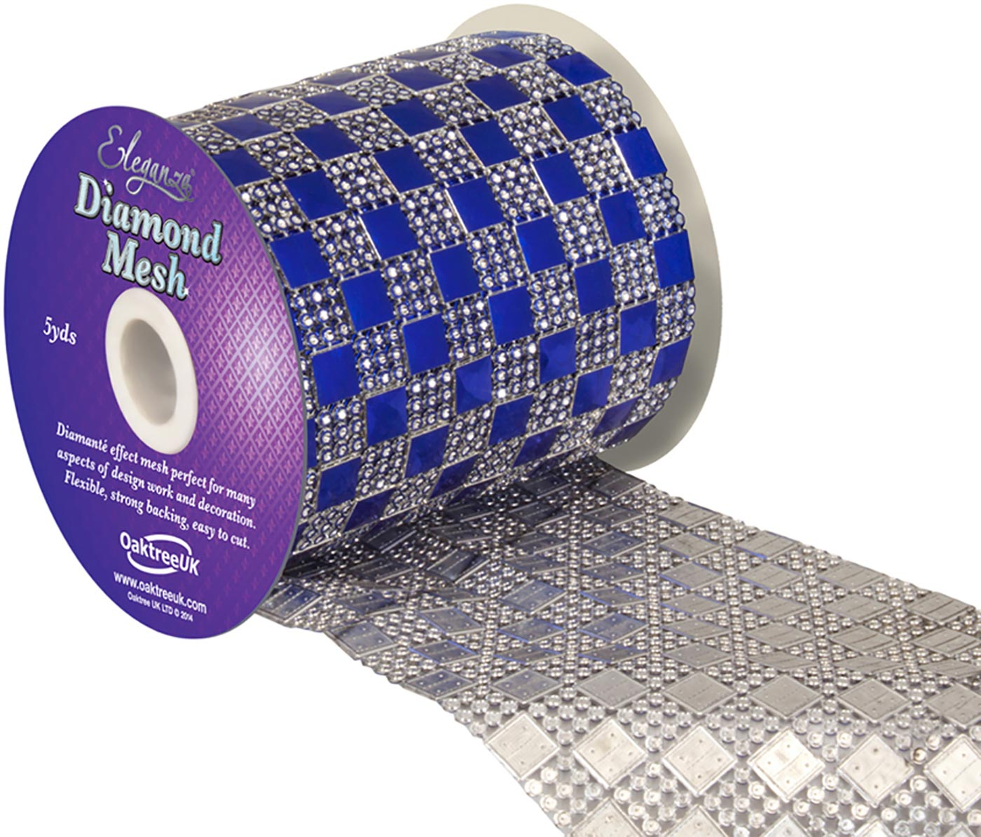 Eleganza Diamond Mesh 11cm x 4.5m Pattern No.350 Sapphire Blue