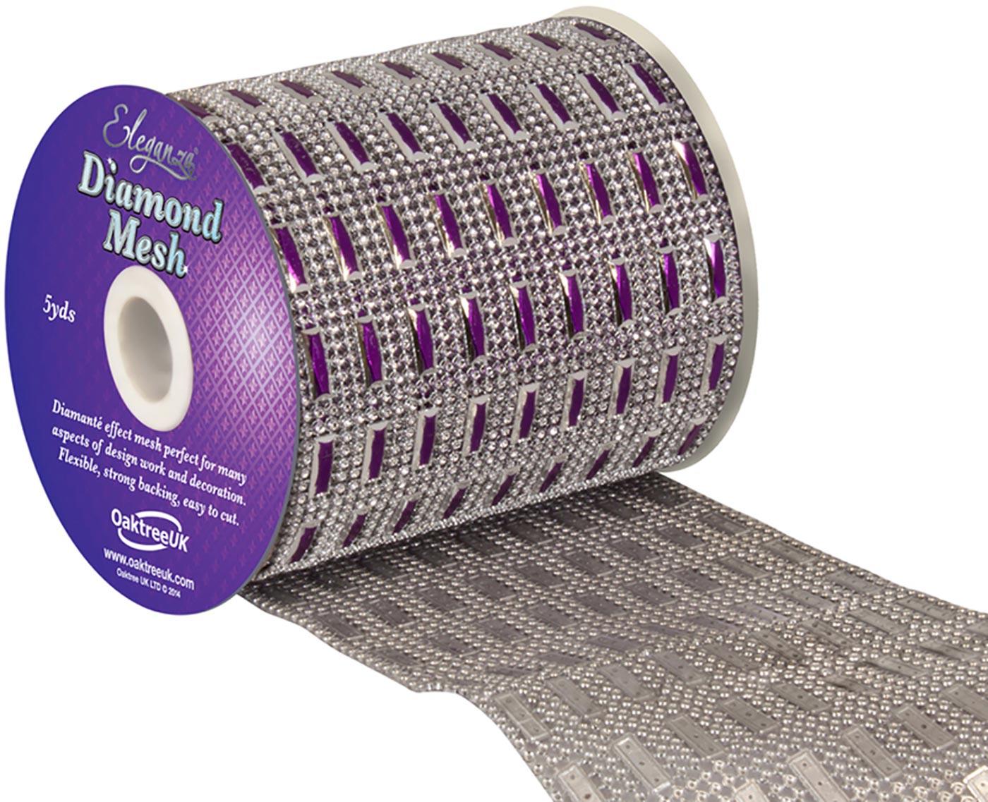 Eleganza Diamond Mesh 11cm x 4.5m Pattern No.352 Purple