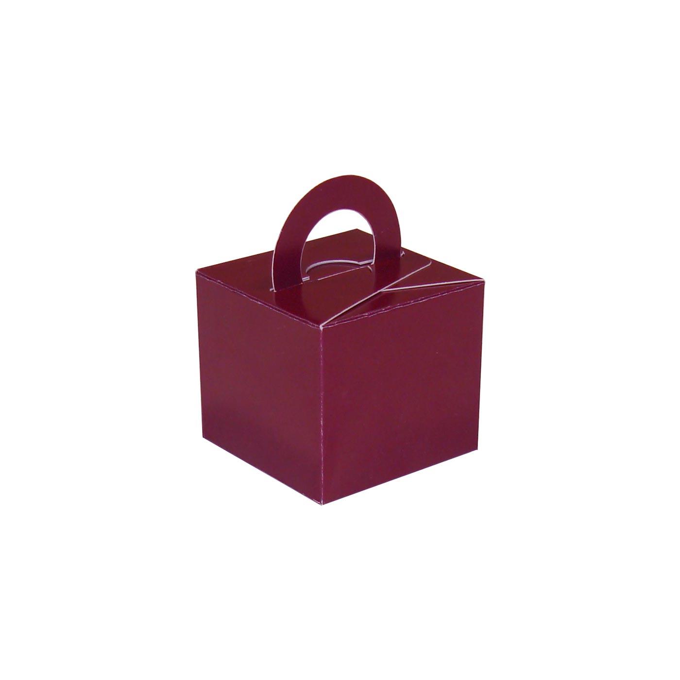 Burgundy Balloon Weight Box