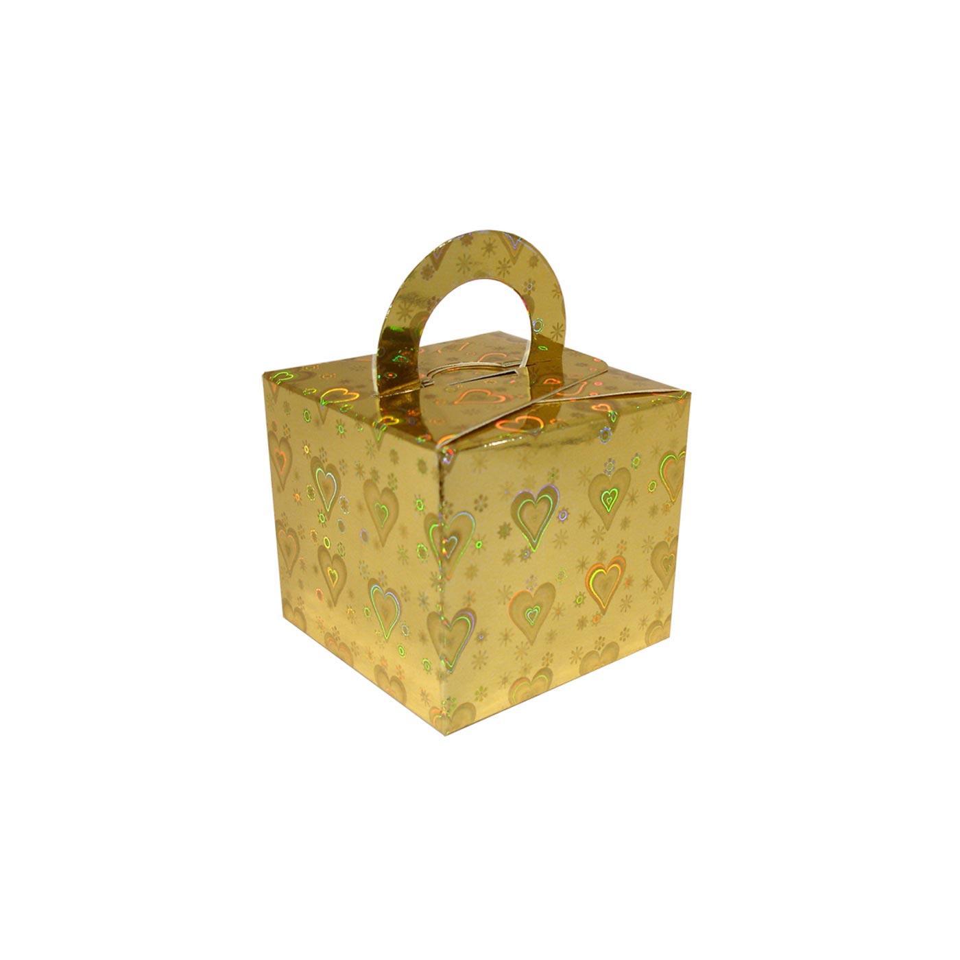 Gold Heart Balloon Weight Box