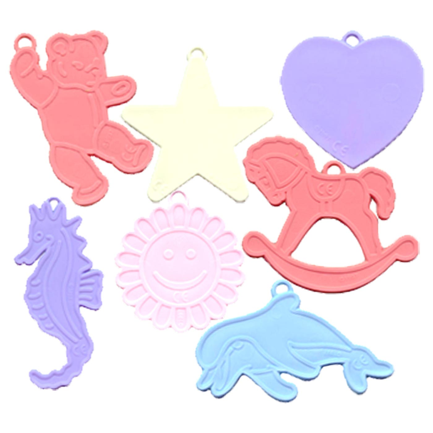 Pastel Assorted Balloon Shape Weights