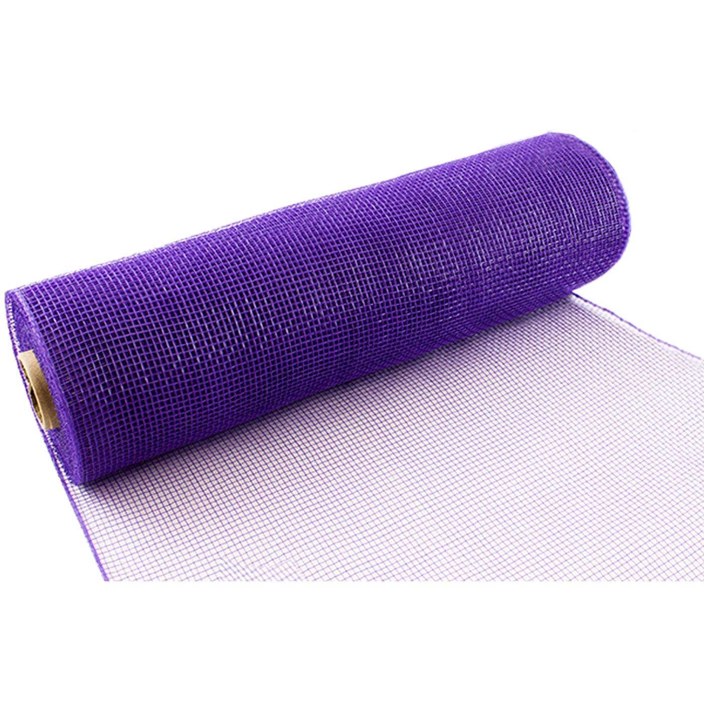 25cm Deco Mesh Purple