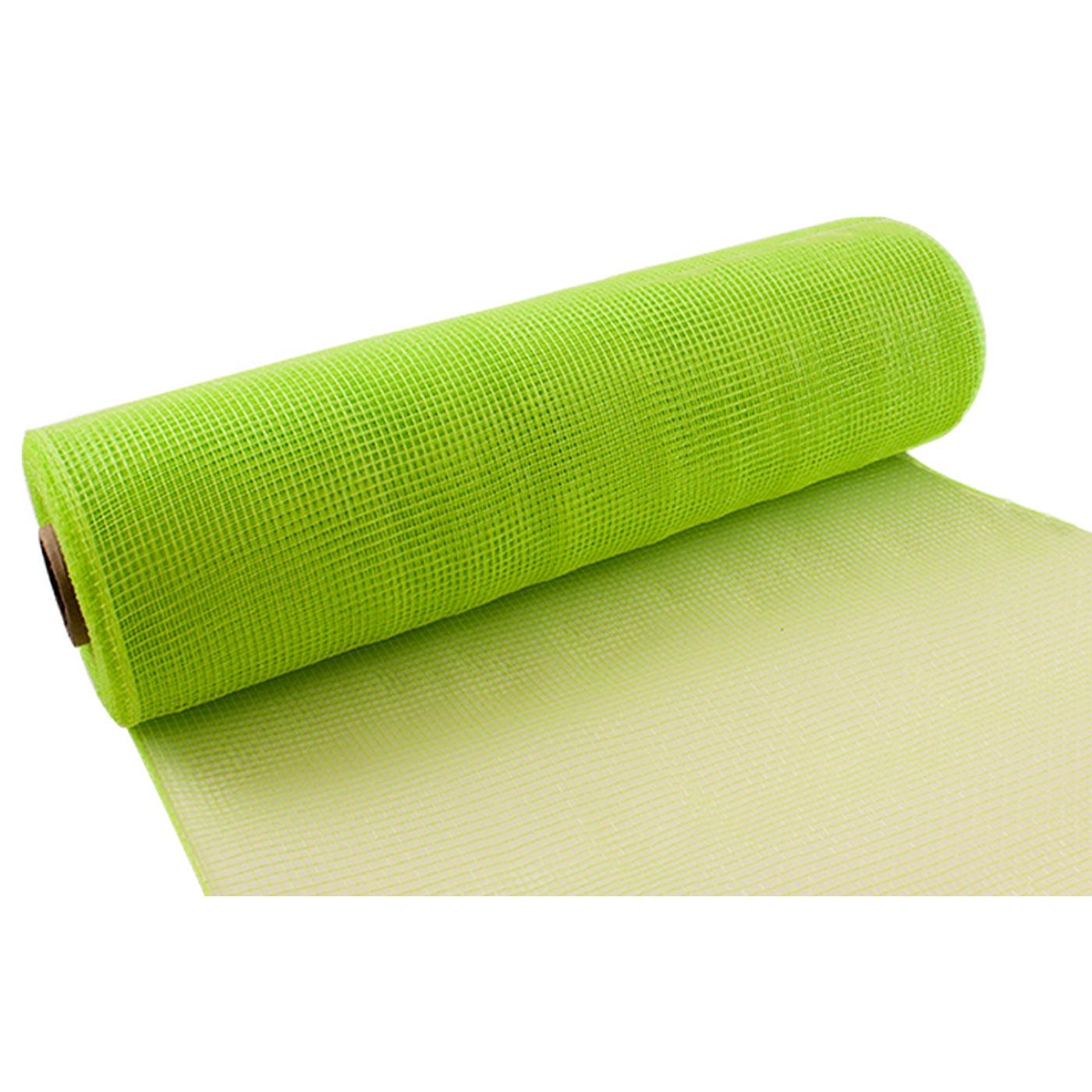 Deco Mesh 25cm Lime Green