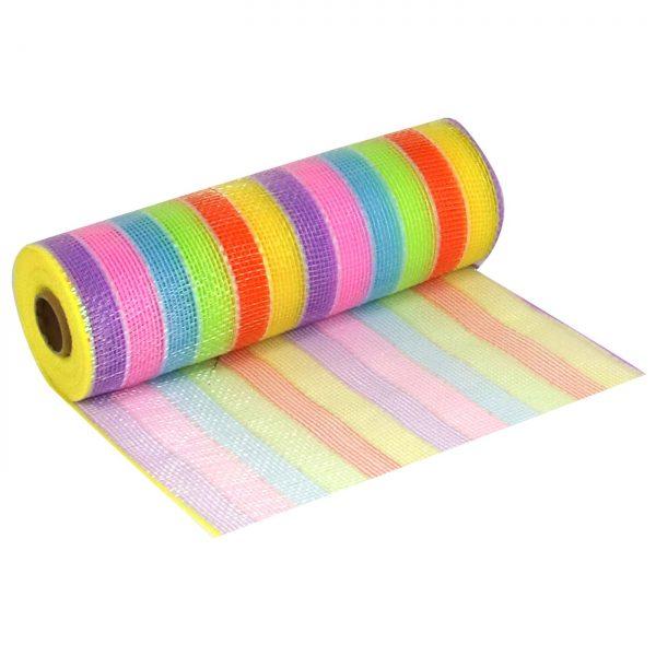 Deco Mesh 25cm Pastel Rainbow