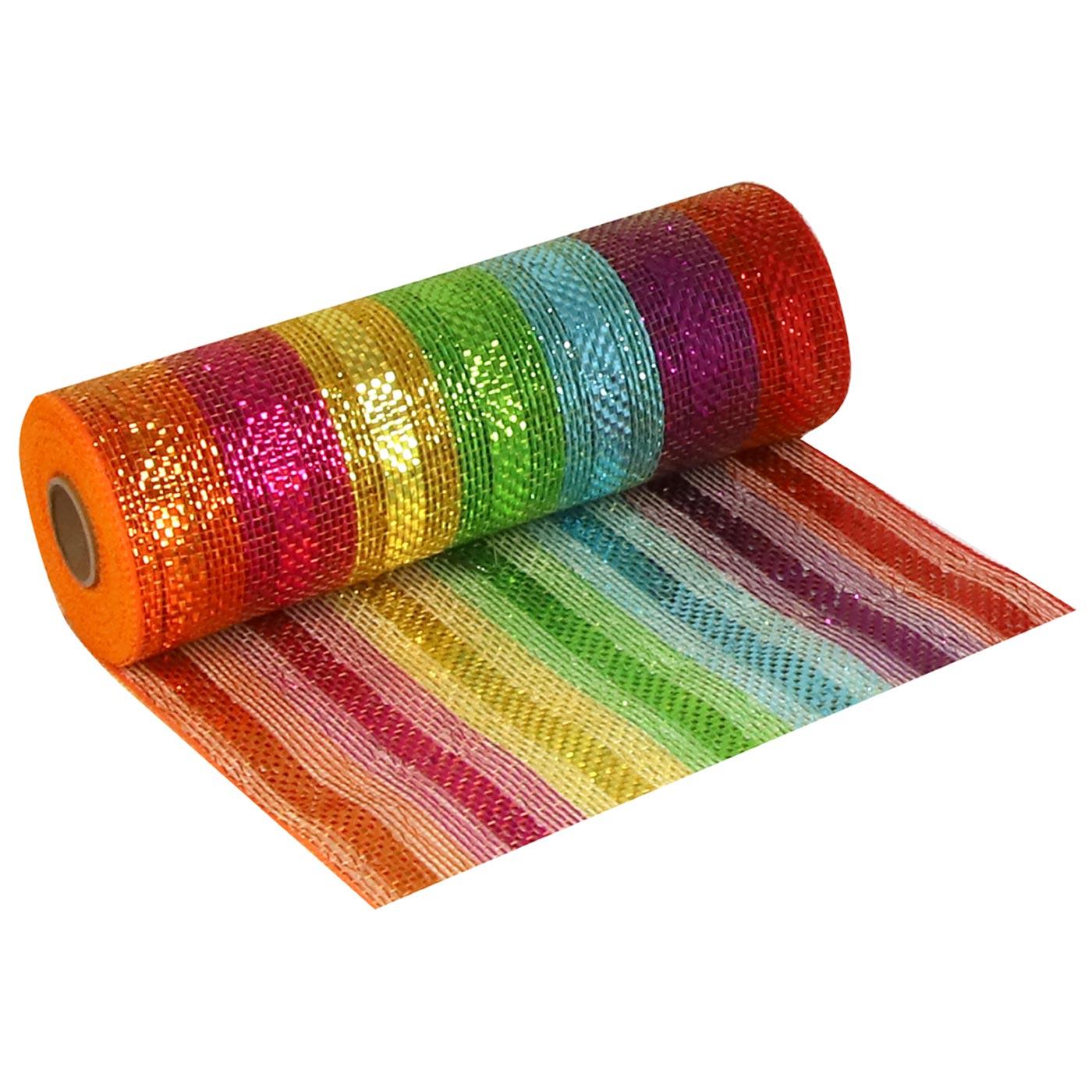 Deco Mesh 25cm Rainbow