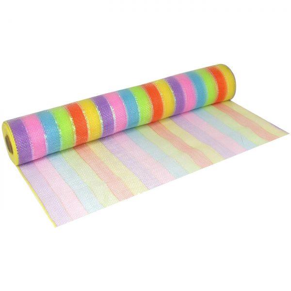 Deco Mesh 53cm Rainbow