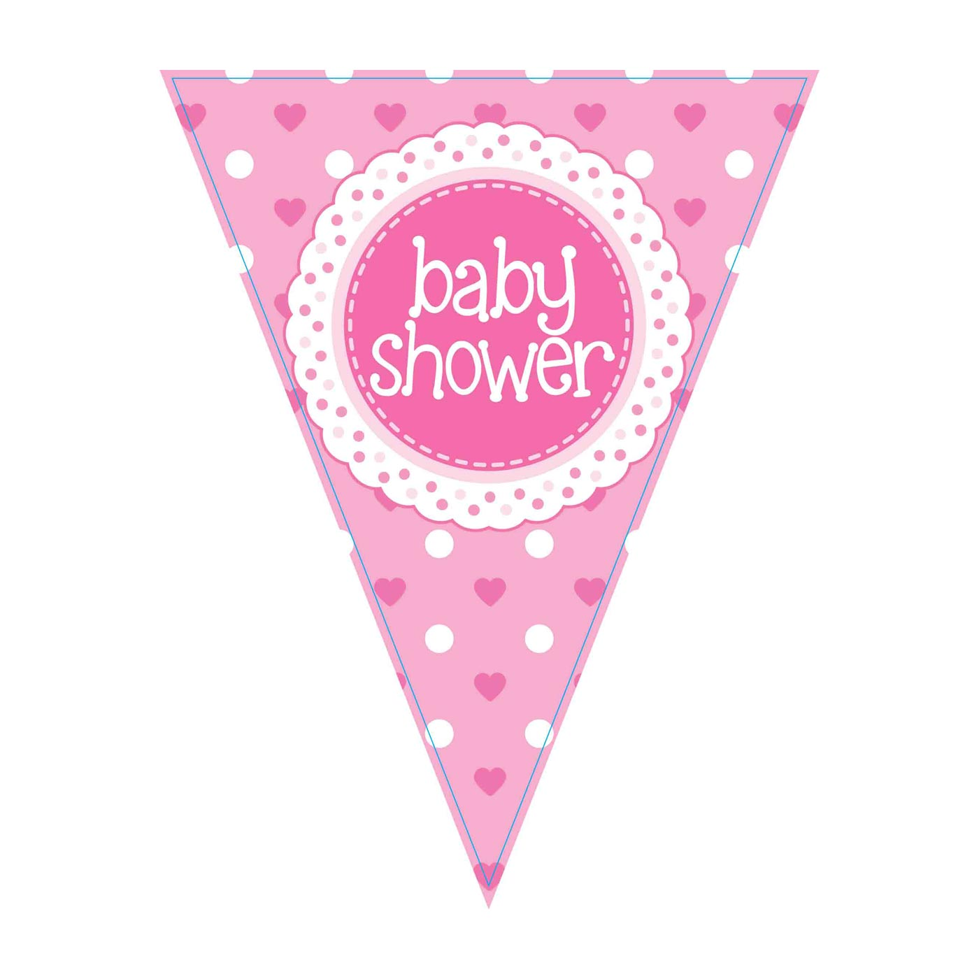 Baby Shower Pink Bunting