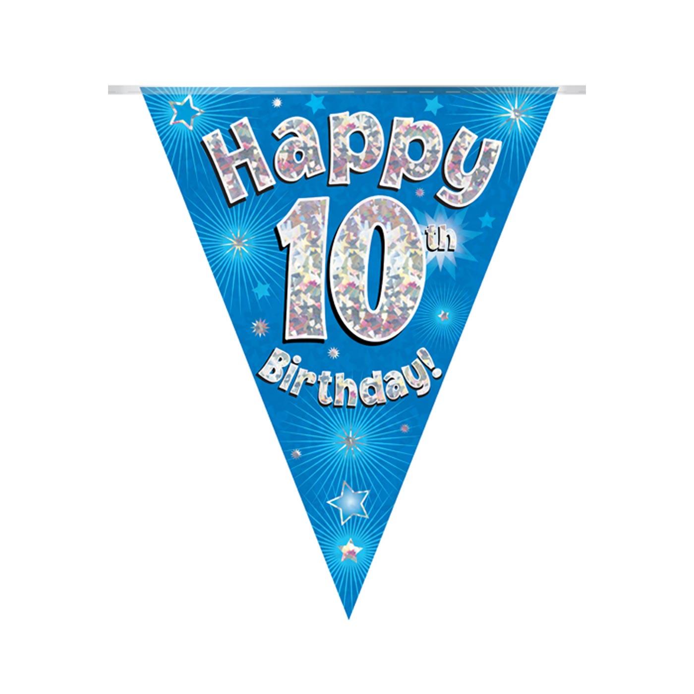 Blue Bunting Happy 10th Birthday