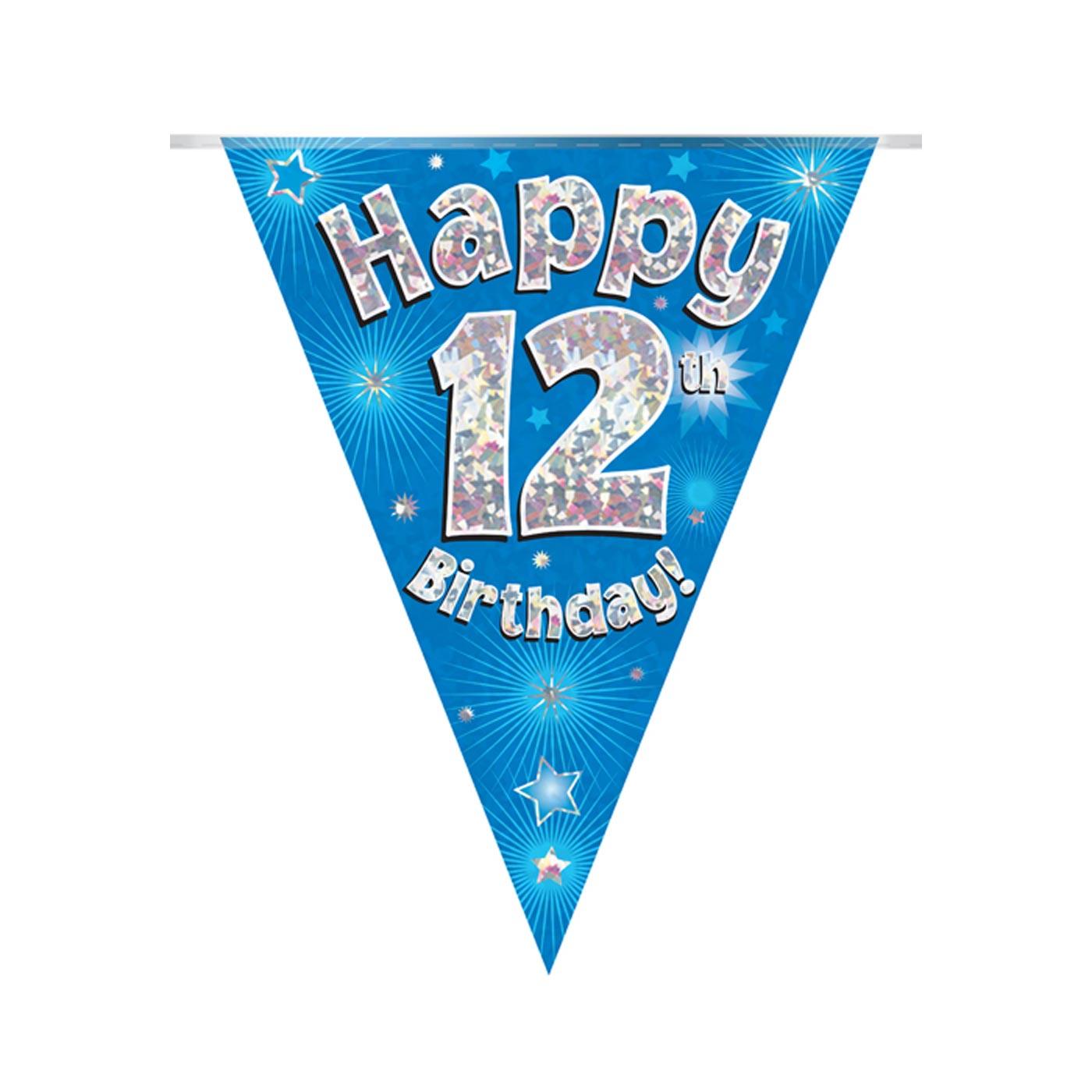 Blue Bunting Happy 12th Birthday