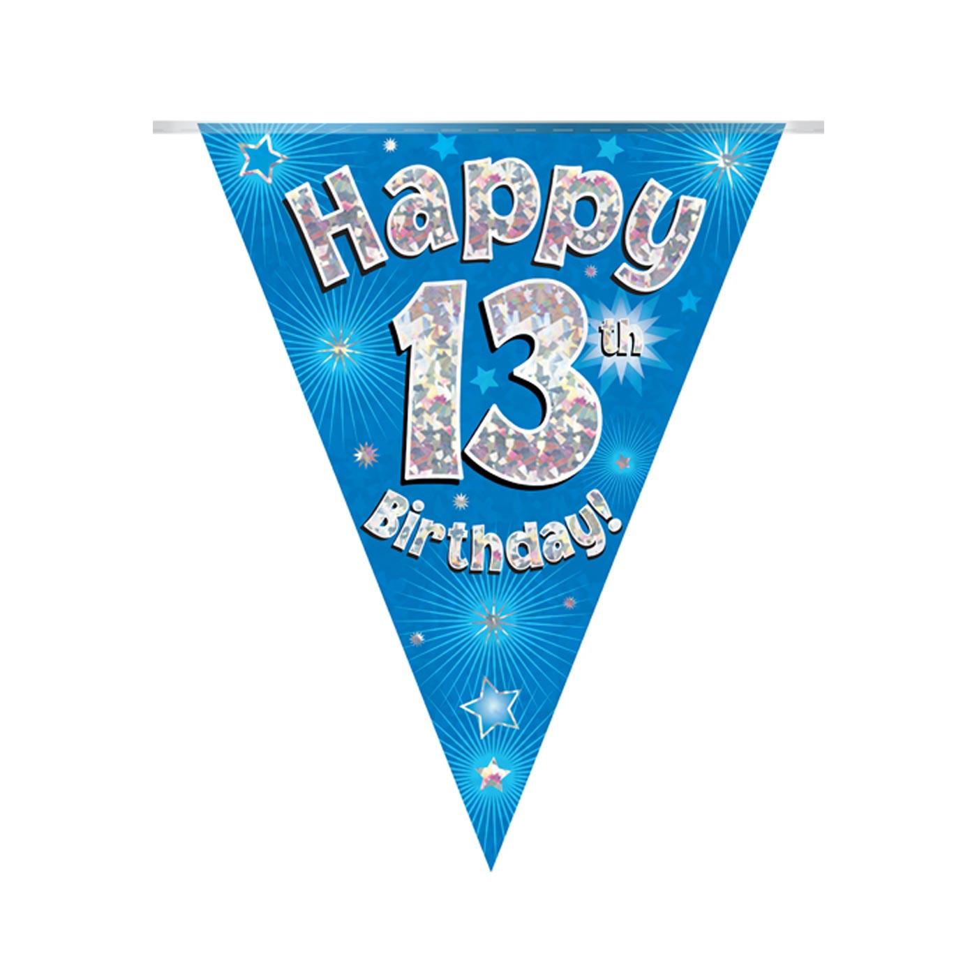 Blue Bunting Happy 13th Birthday