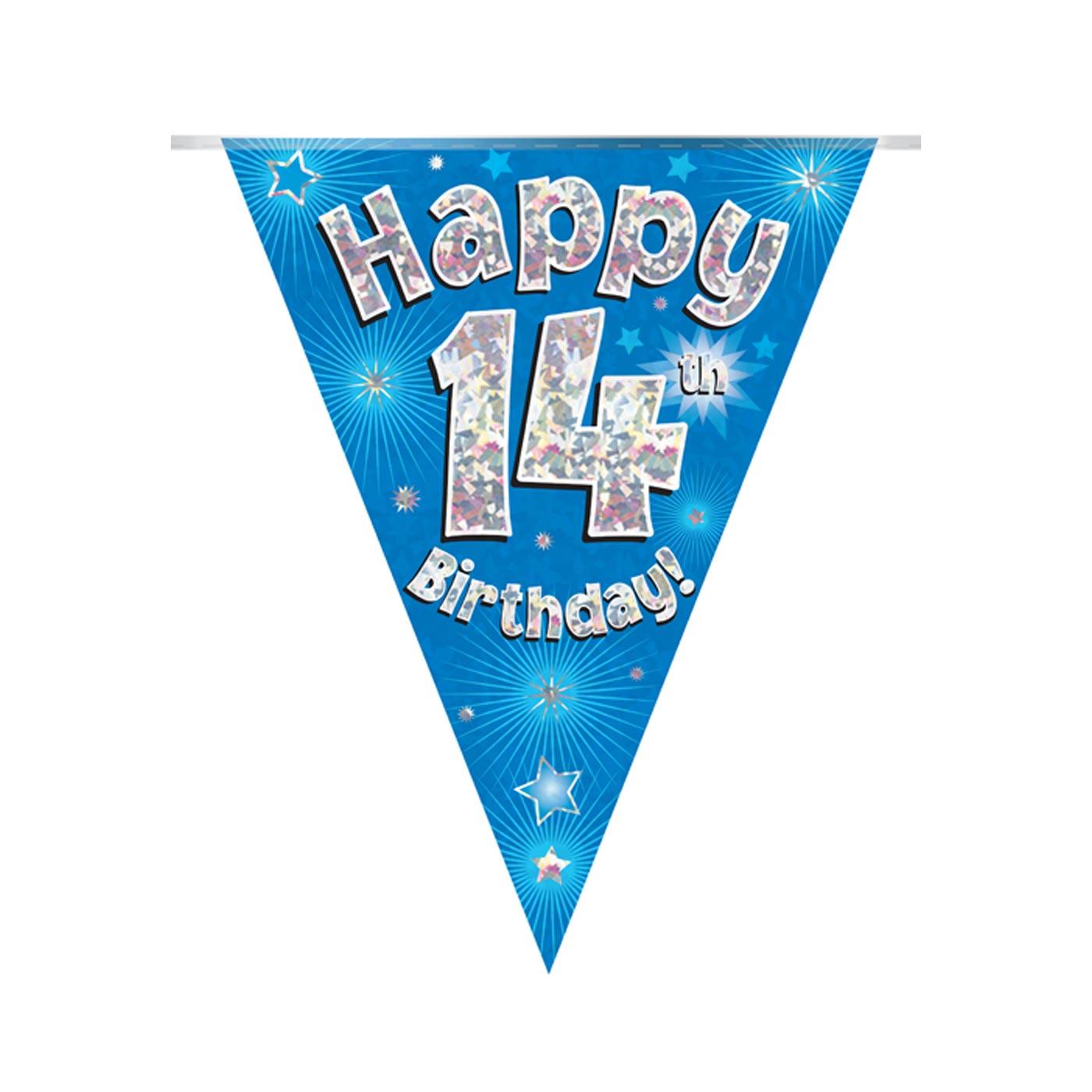 Blue Bunting Happy 14th Birthday