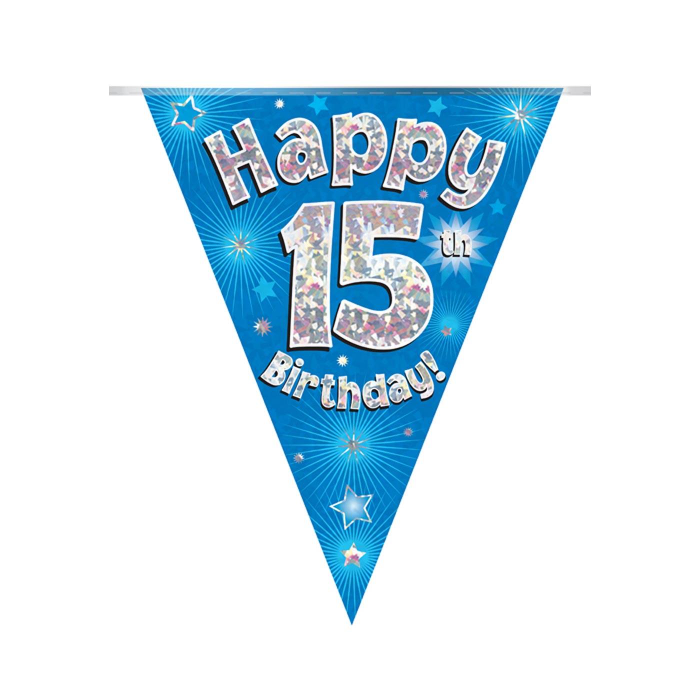 Blue Bunting Happy 15th Birthday