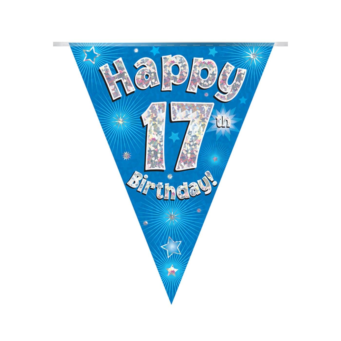 Blue Bunting Happy 17th Birthday
