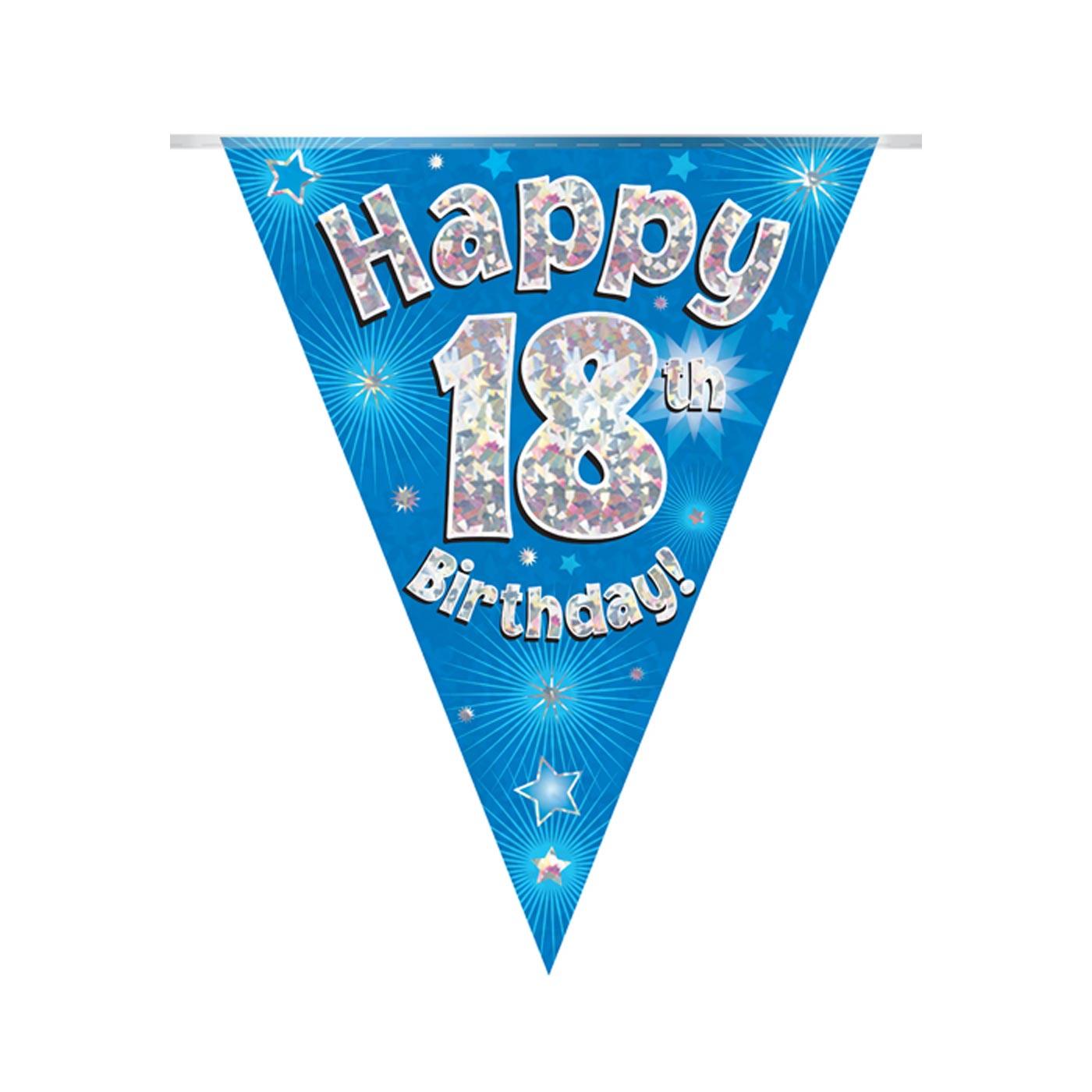 Blue Bunting Happy 18th Birthday