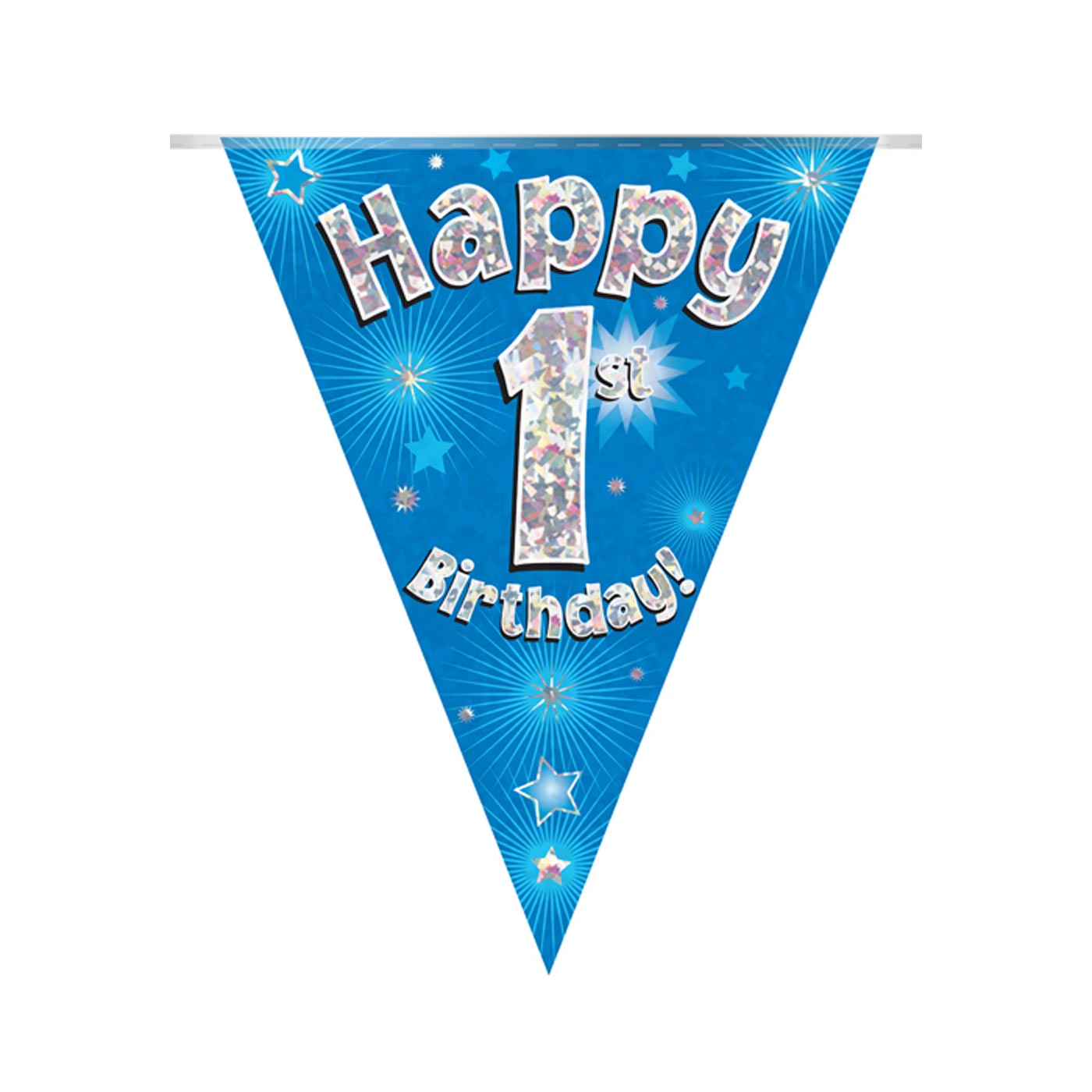 Blue Bunting Happy 1st Birthday