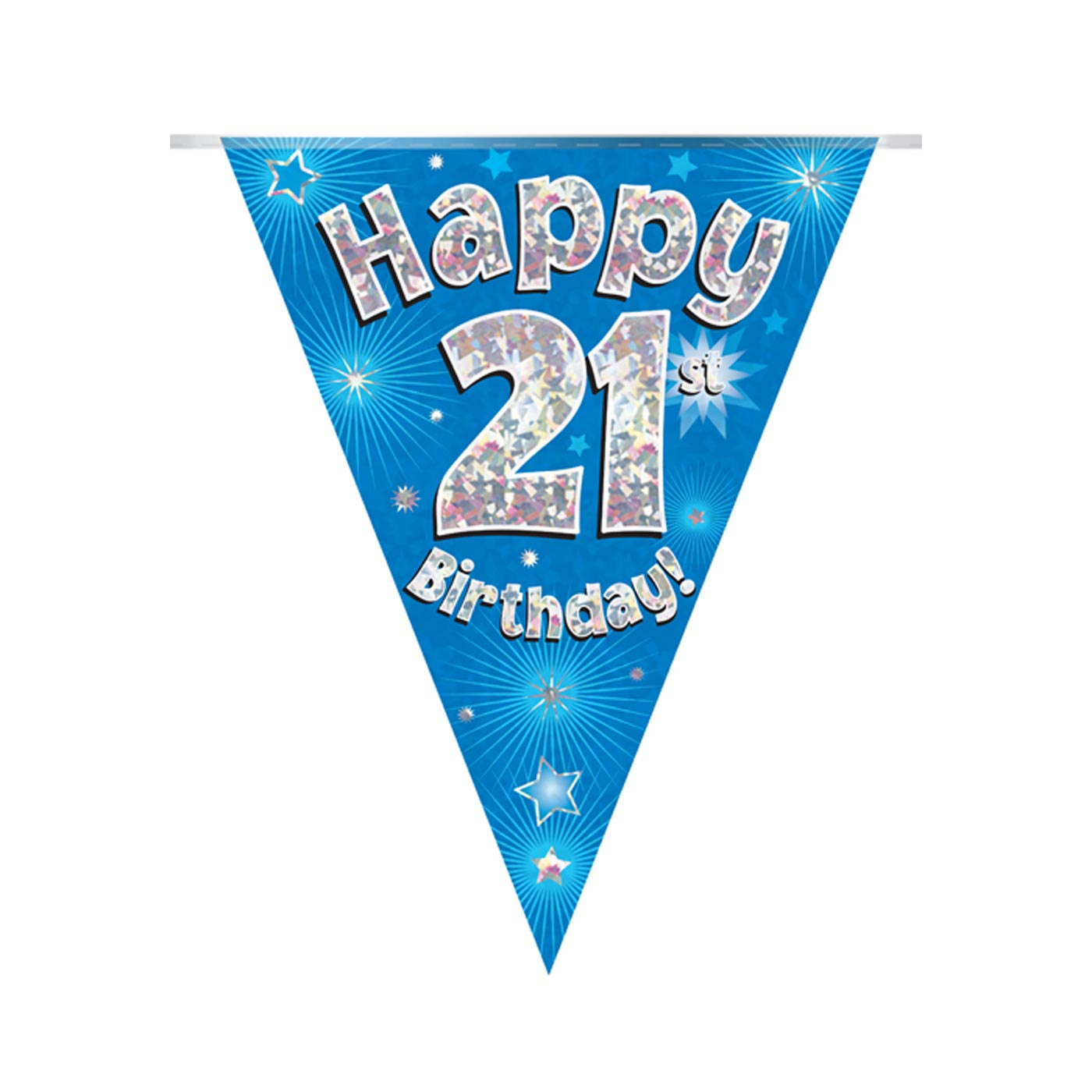 Blue Bunting Happy 21st Birthday