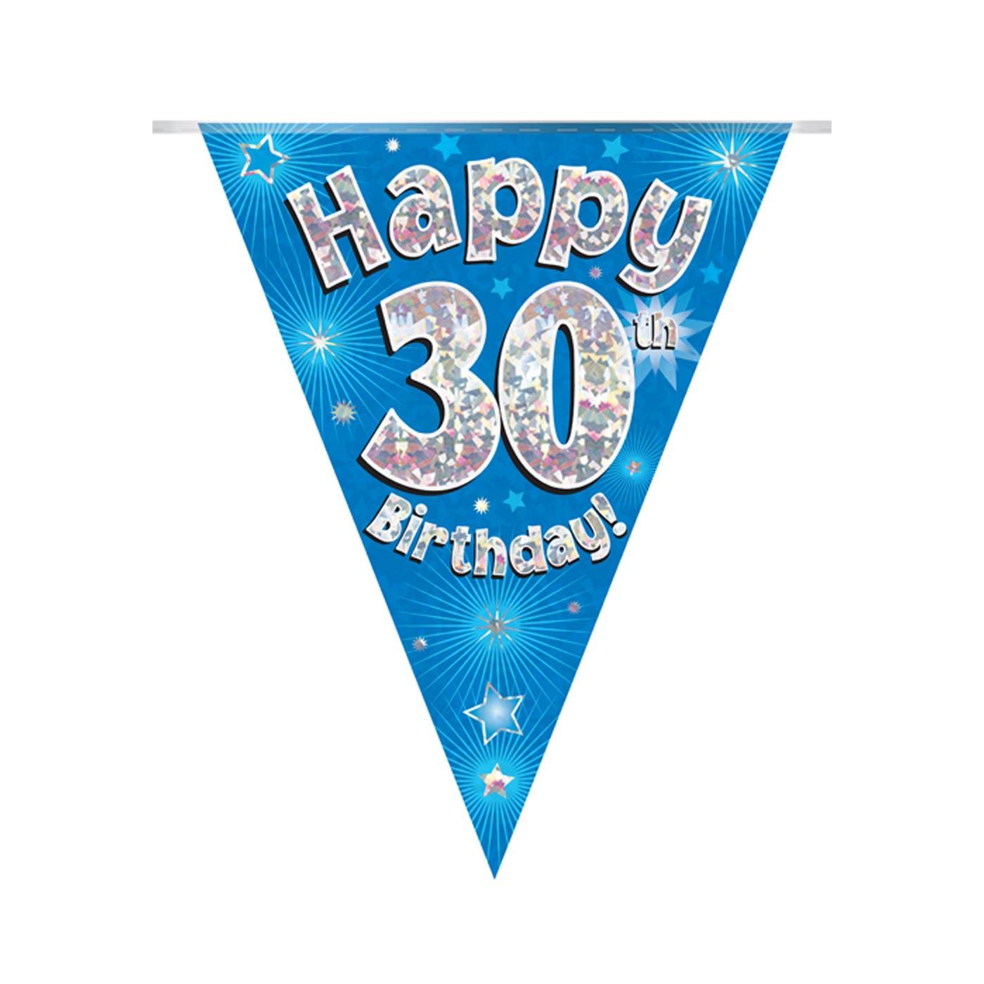 Blue Bunting Happy 30th Birthday