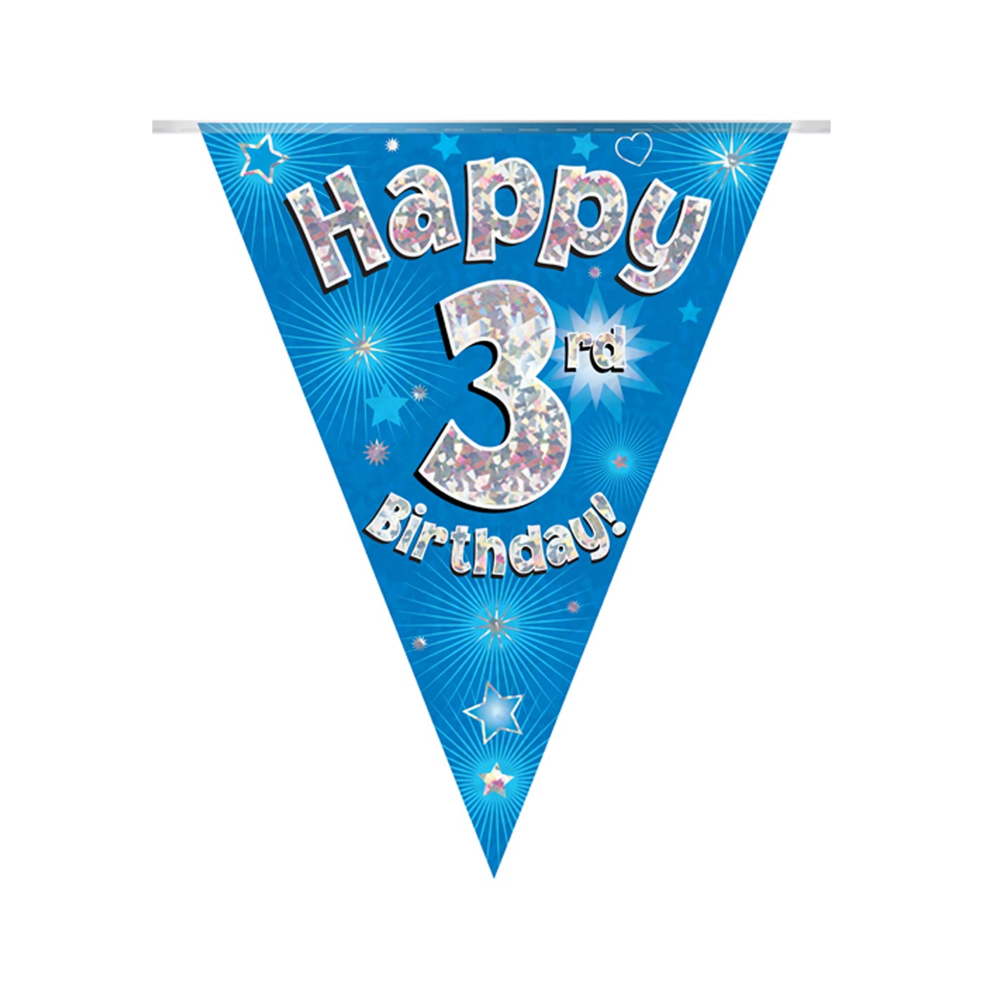 Blue Bunting Happy 3rd Birthday