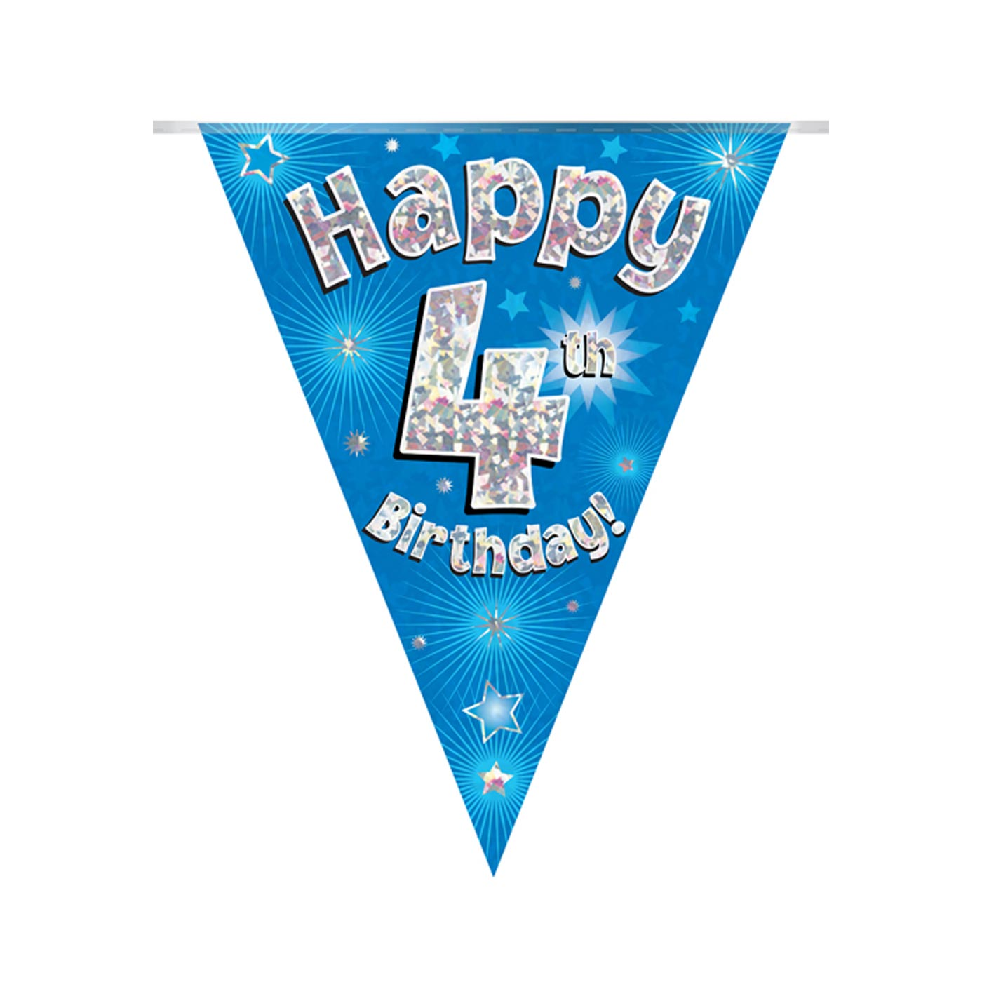 Blue Bunting Happy 4th Birthday