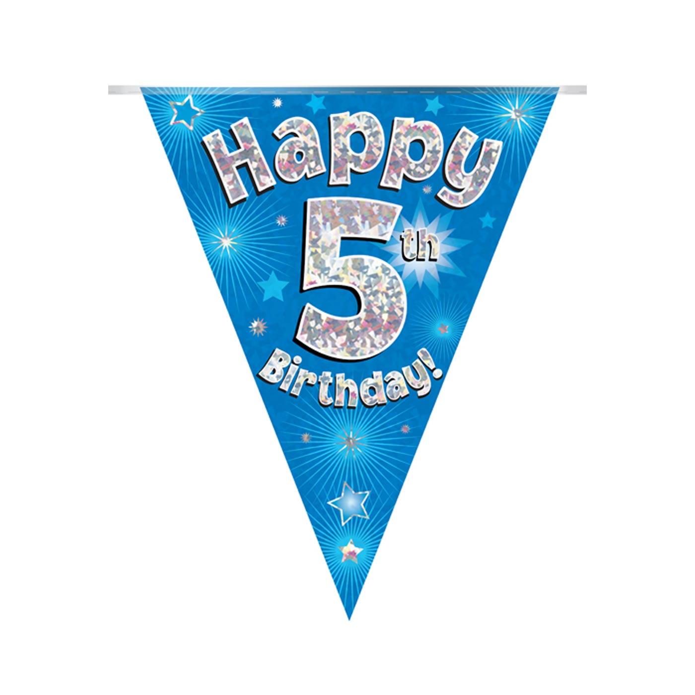 Blue Bunting Happy 5th Birthday