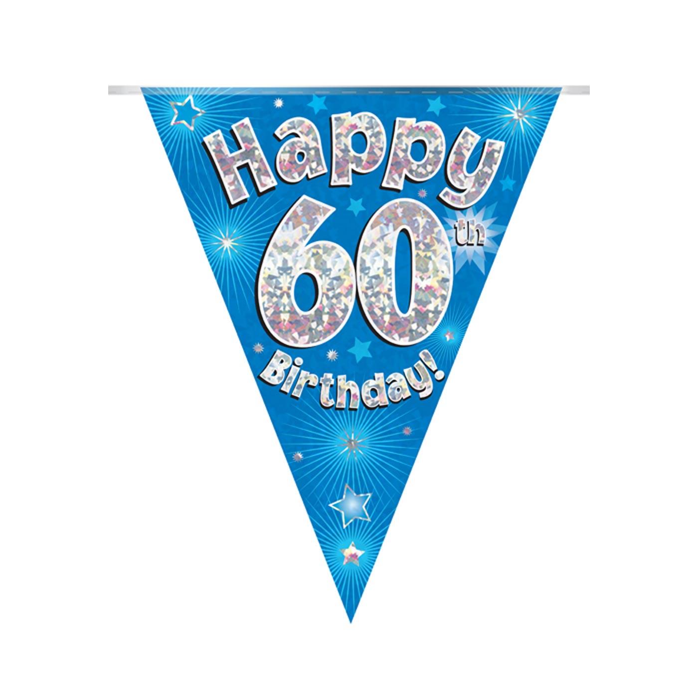 Blue Bunting Happy 60th Birthday